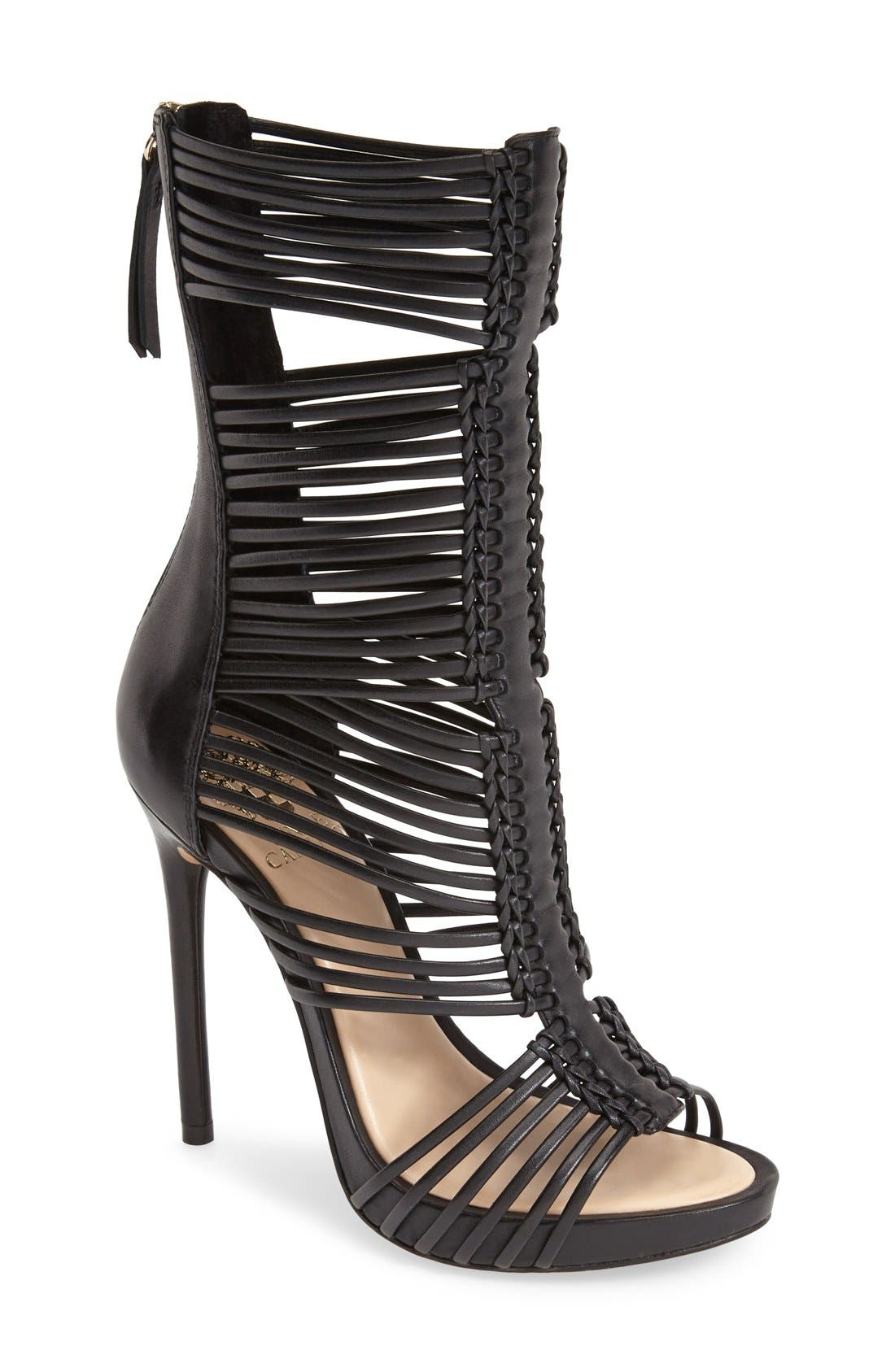 Alternate Image 1 Selected - Vince Camuto 'Barbara' Strappy Caged Leather Sandal (Women)