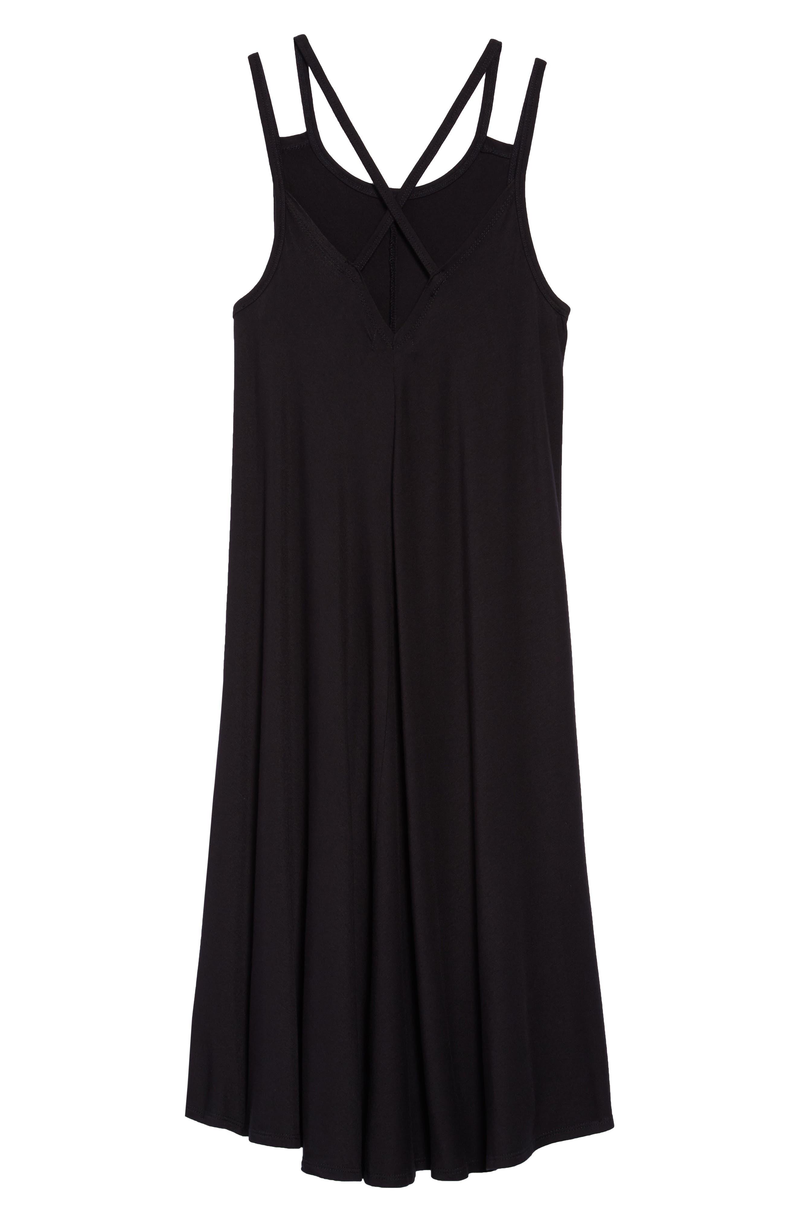 Strappy Dress,                             Alternate thumbnail 2, color,                             Black