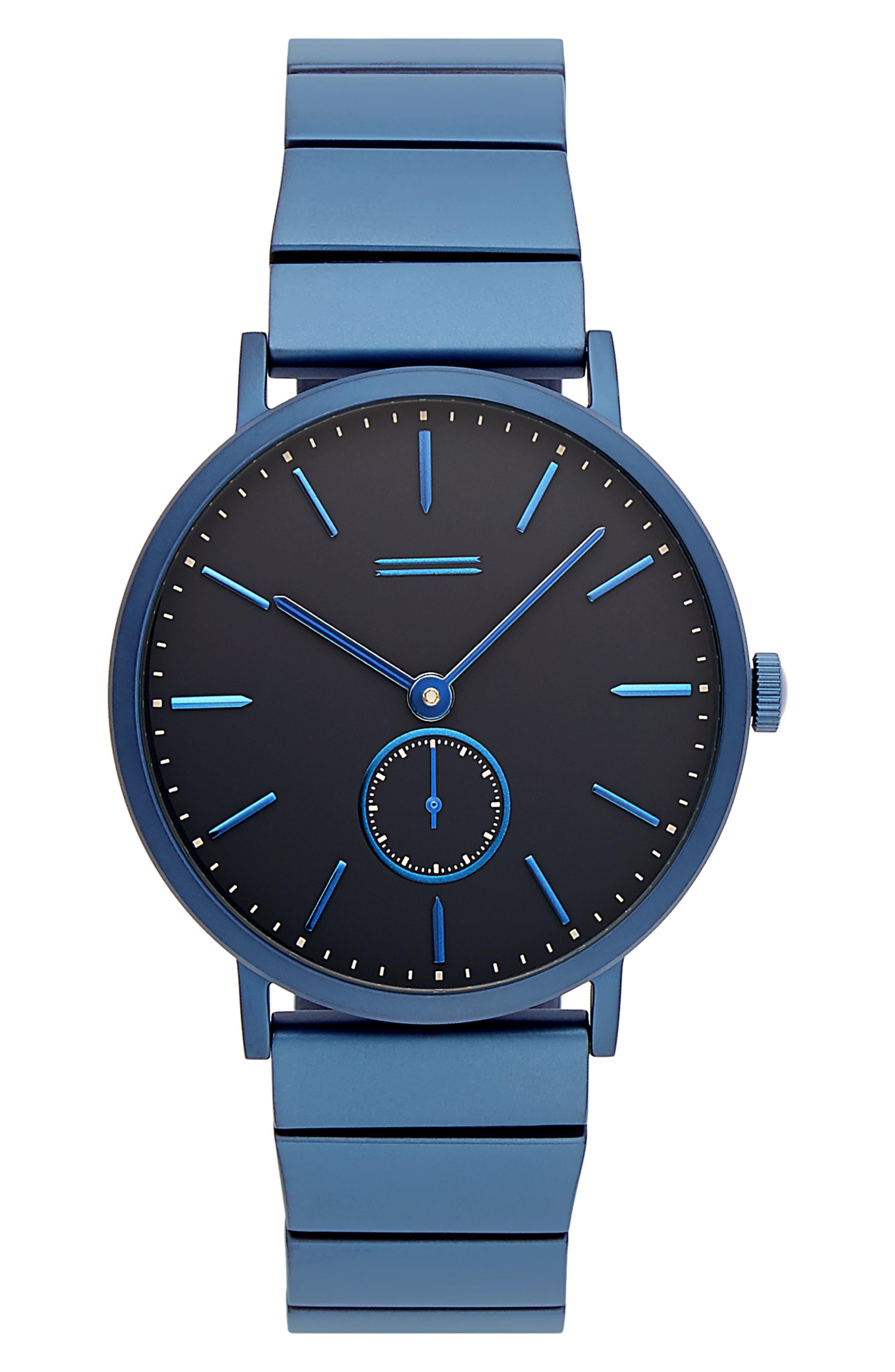 URI MINKOFF Norrebro Bracelet Watch, 40Mm in Navy