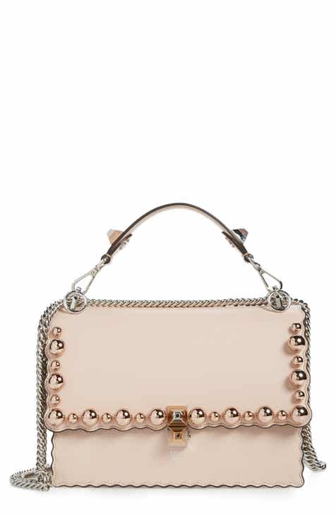 90f6791c473 Fendi Mini Kan I Imitation Pearl Scallop Leather Shoulder Bag