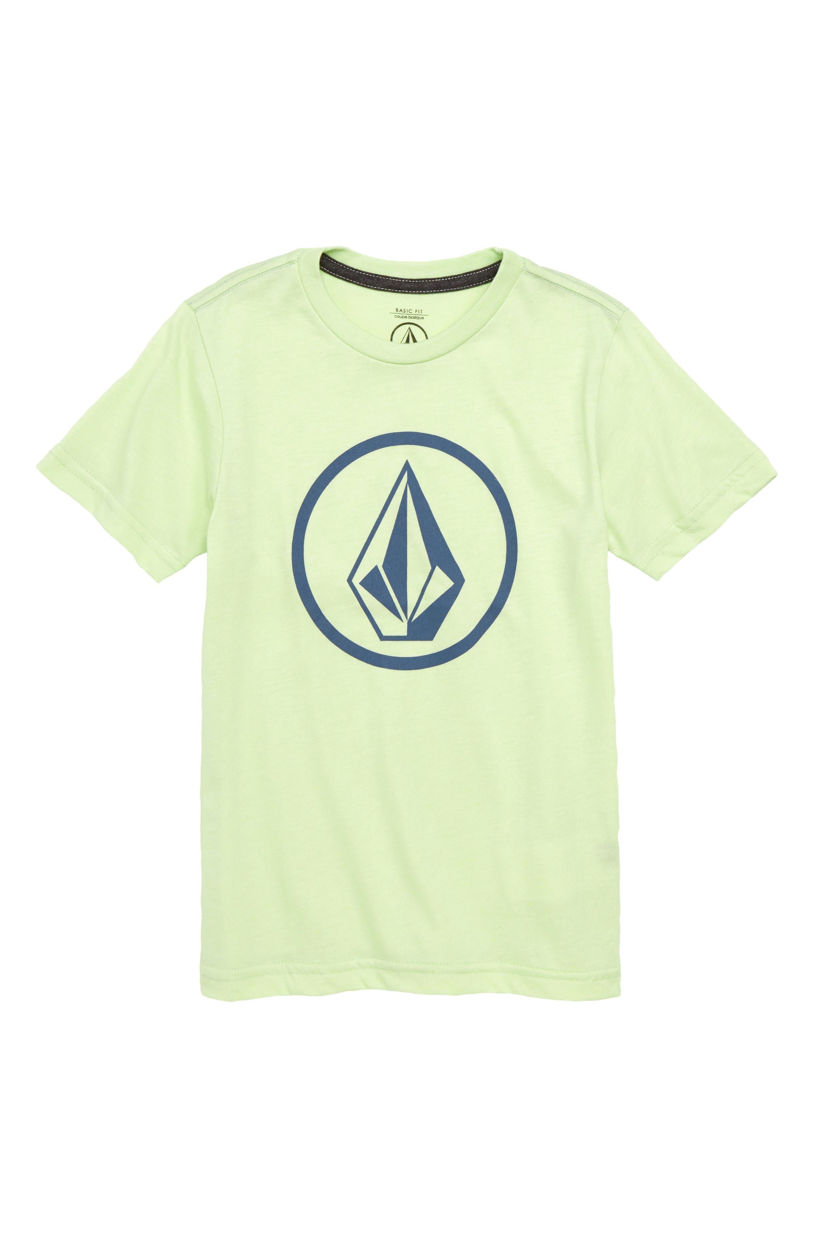 Circle Stone Logo Graphic T-Shirt,                             Main thumbnail 1, color,                             Mist Green
