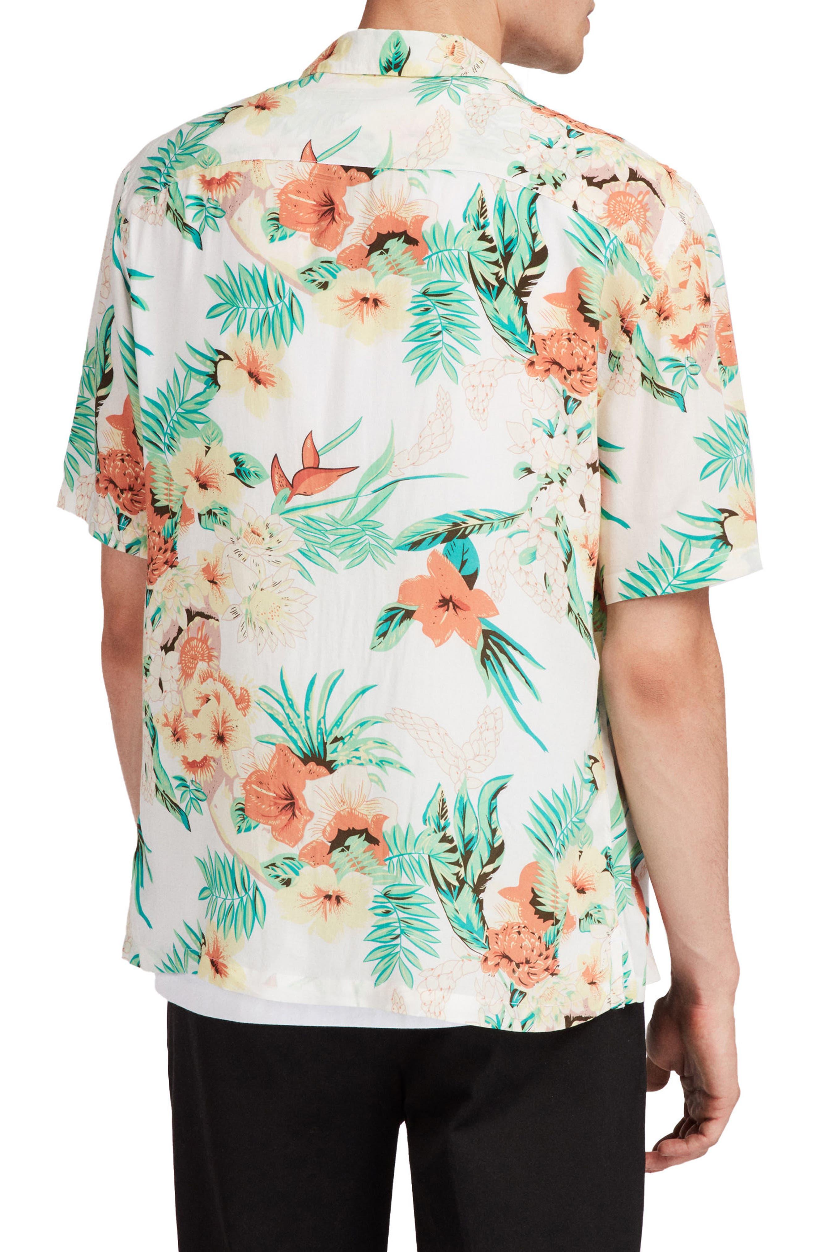 Calypso Regular Fit Sport Shirt,                             Alternate thumbnail 3, color,                             Ecru