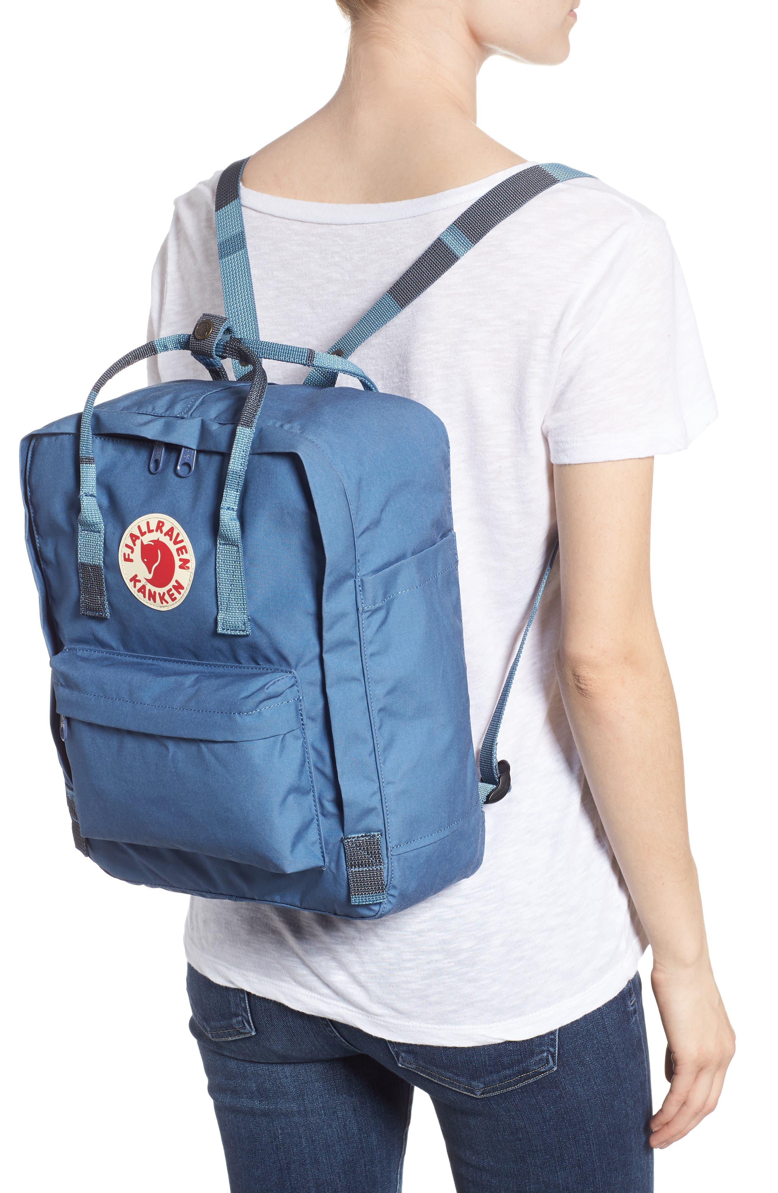 'Kånken' Water Resistant Backpack,                             Alternate thumbnail 2, color,                             Blue Ridge/ Random Blocked