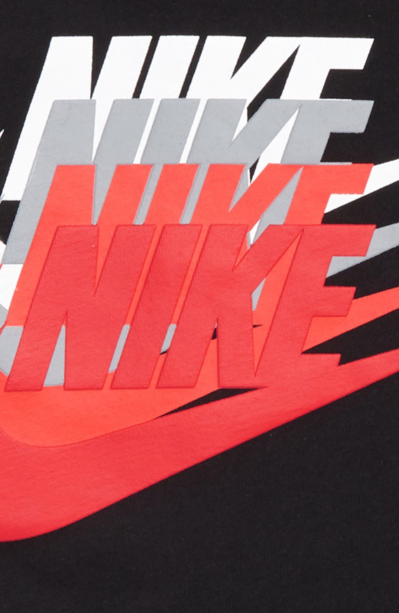 Sunset Futura Graphic T-Shirt,                             Alternate thumbnail 2, color,                             Black