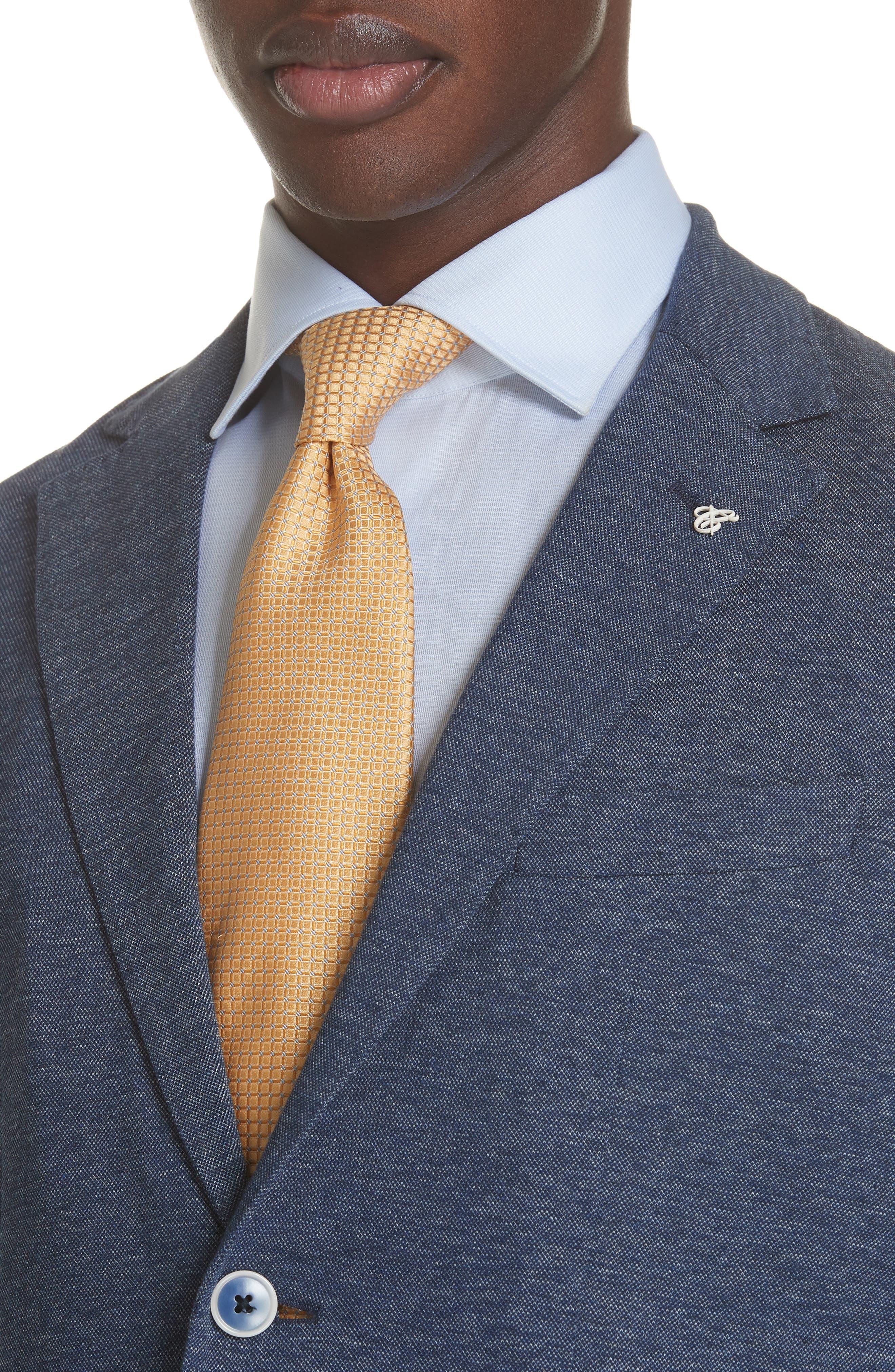 Slim Fit Cotton Blazer,                             Alternate thumbnail 3, color,                             Blue