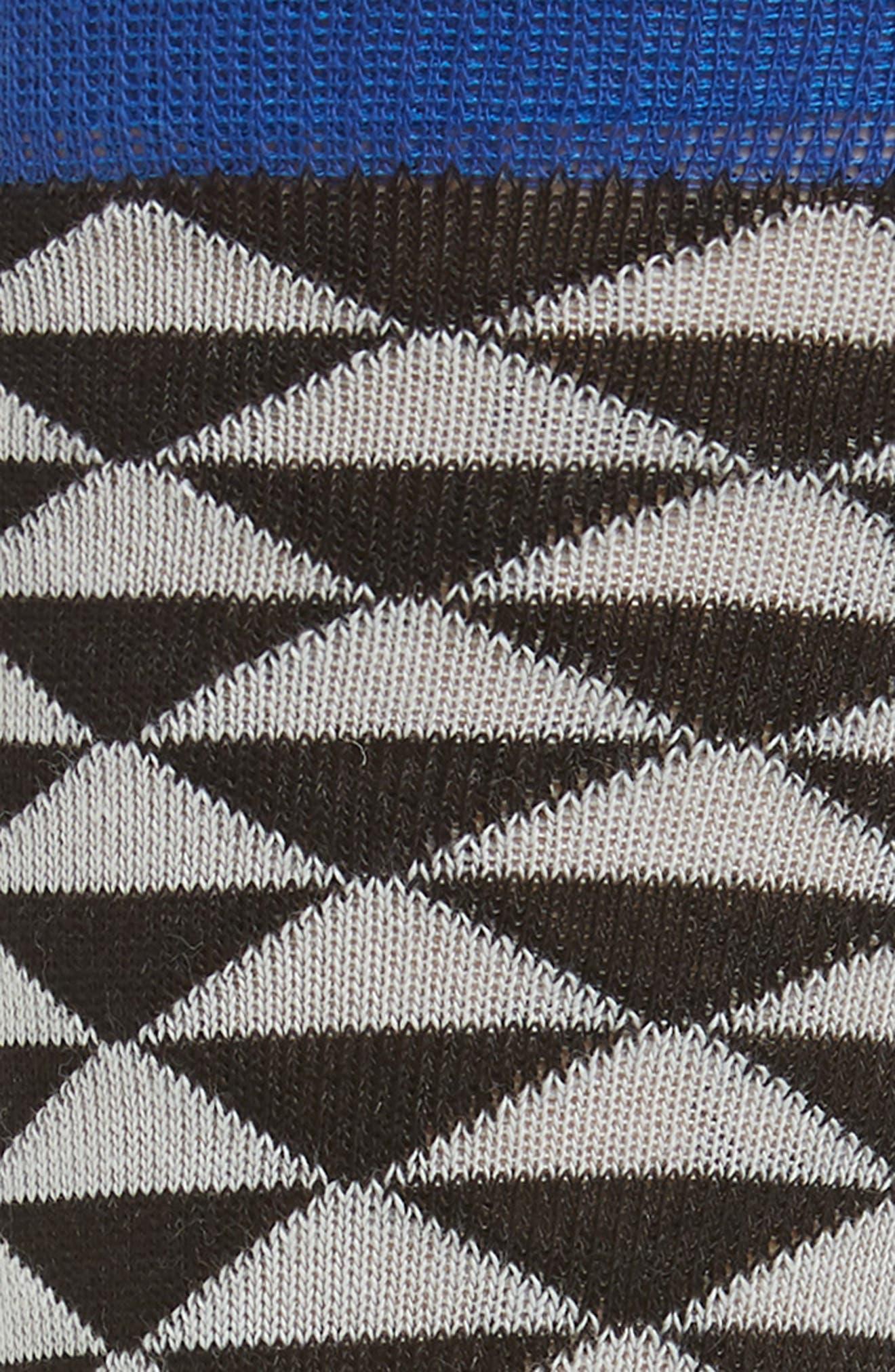 Triangles Socks,                             Alternate thumbnail 2, color,                             Black