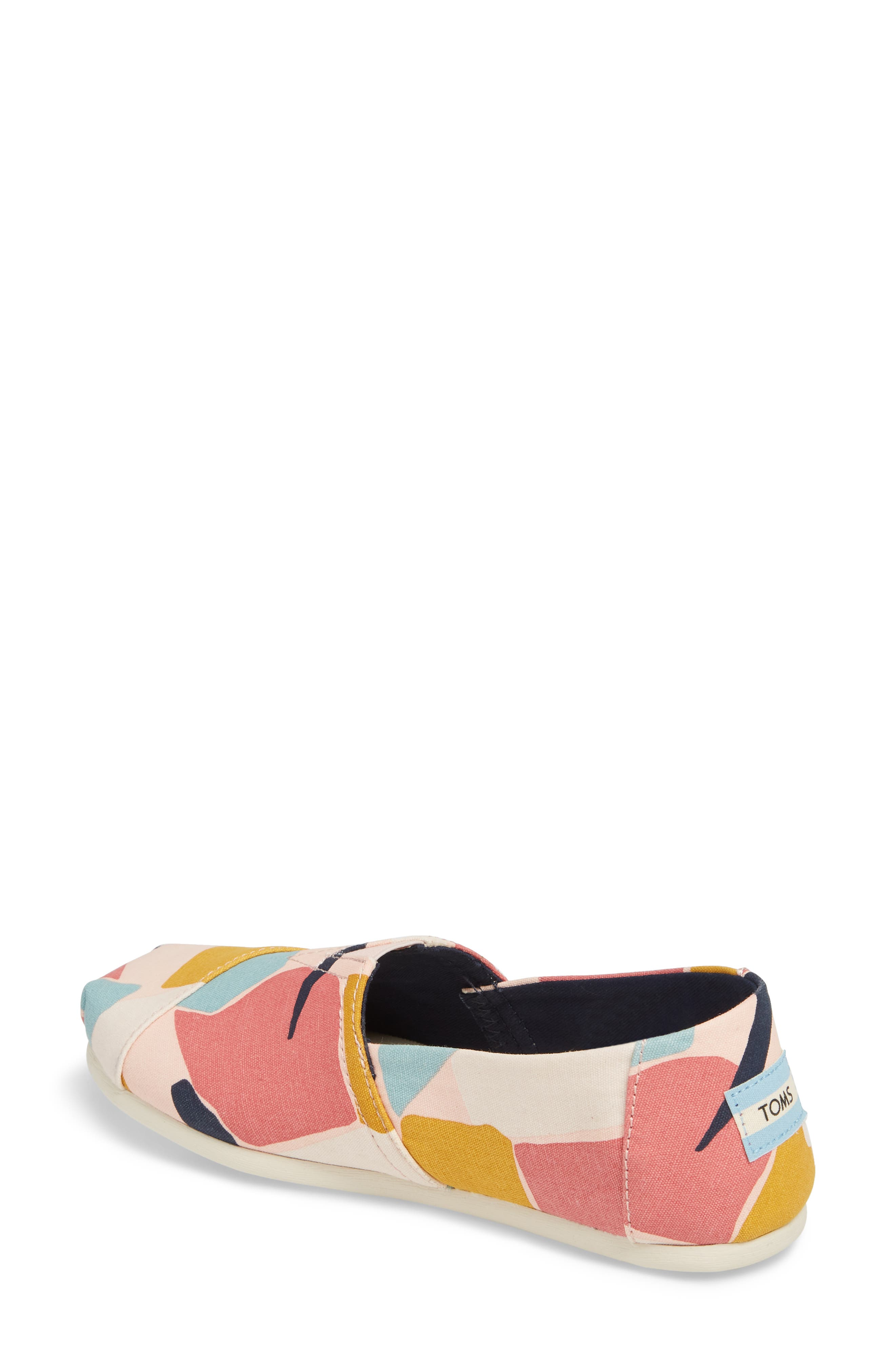 Alpargata Slip-On Sneaker,                             Alternate thumbnail 2, color,                             Rose Glow Print Canvas