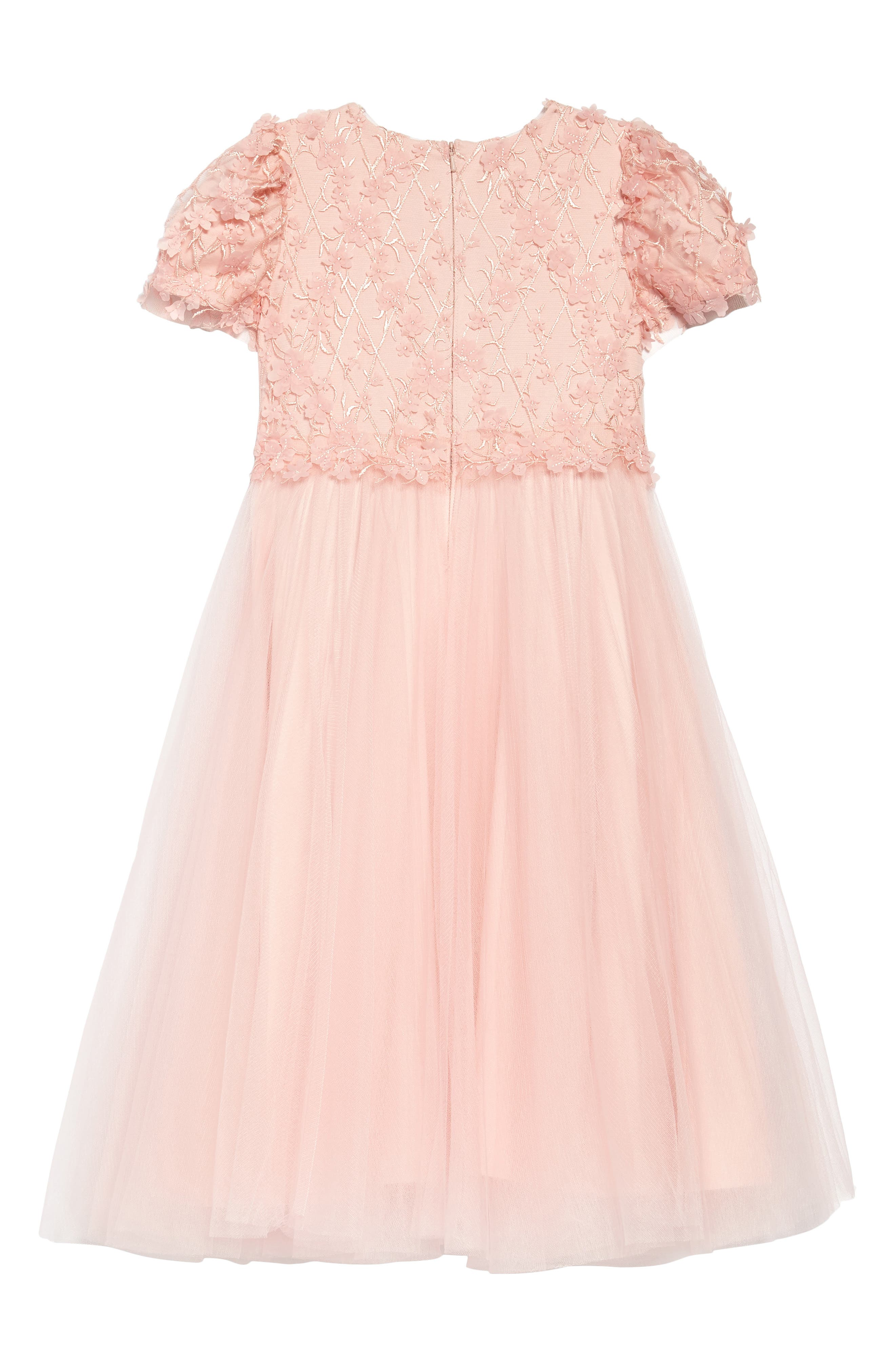 Cap Sleeve Lace Dress,                             Alternate thumbnail 2, color,                             Rose Quartz