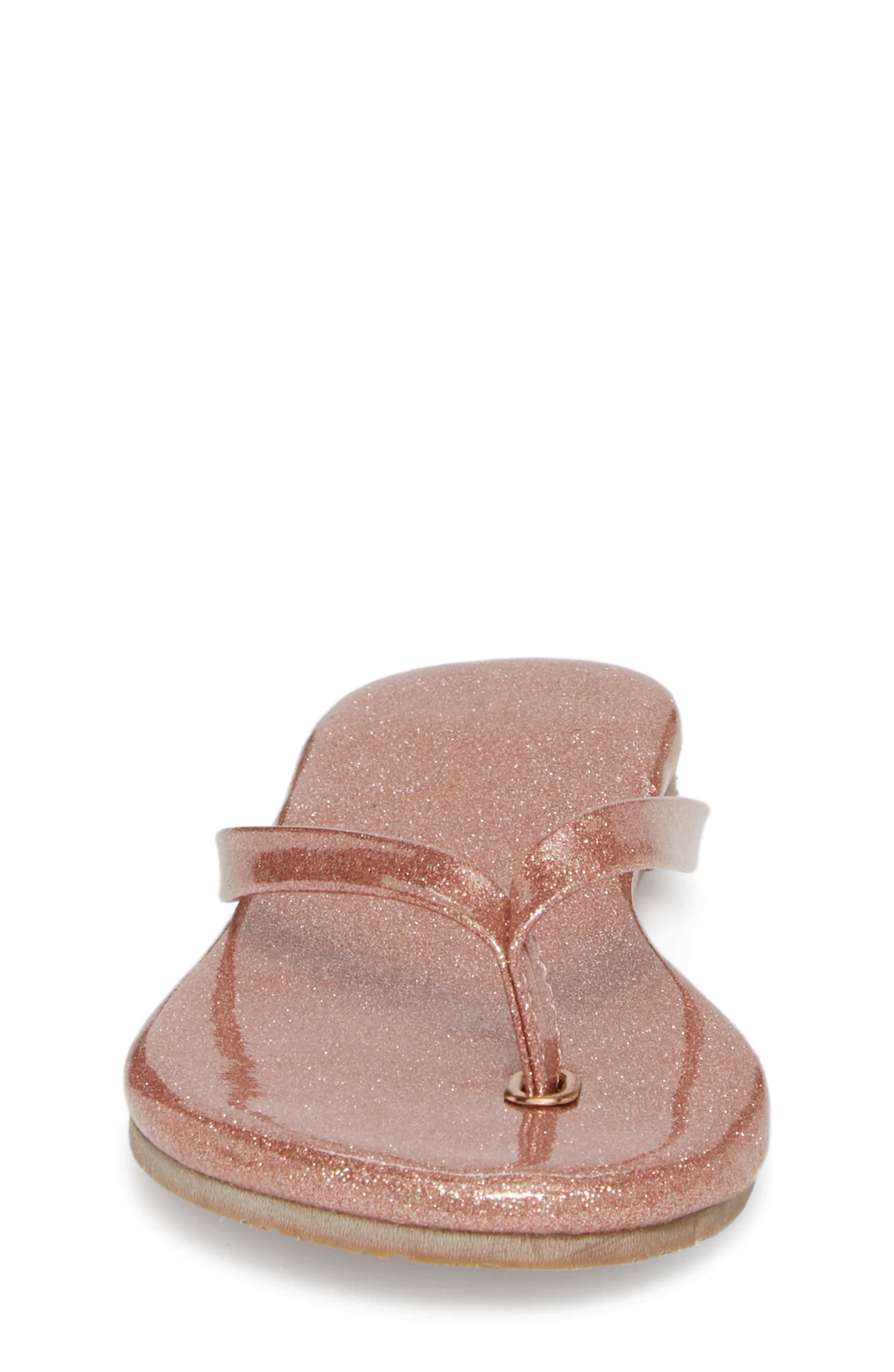 Rivington Flip Flop,                             Alternate thumbnail 6, color,                             Light Pink Patent Glitter
