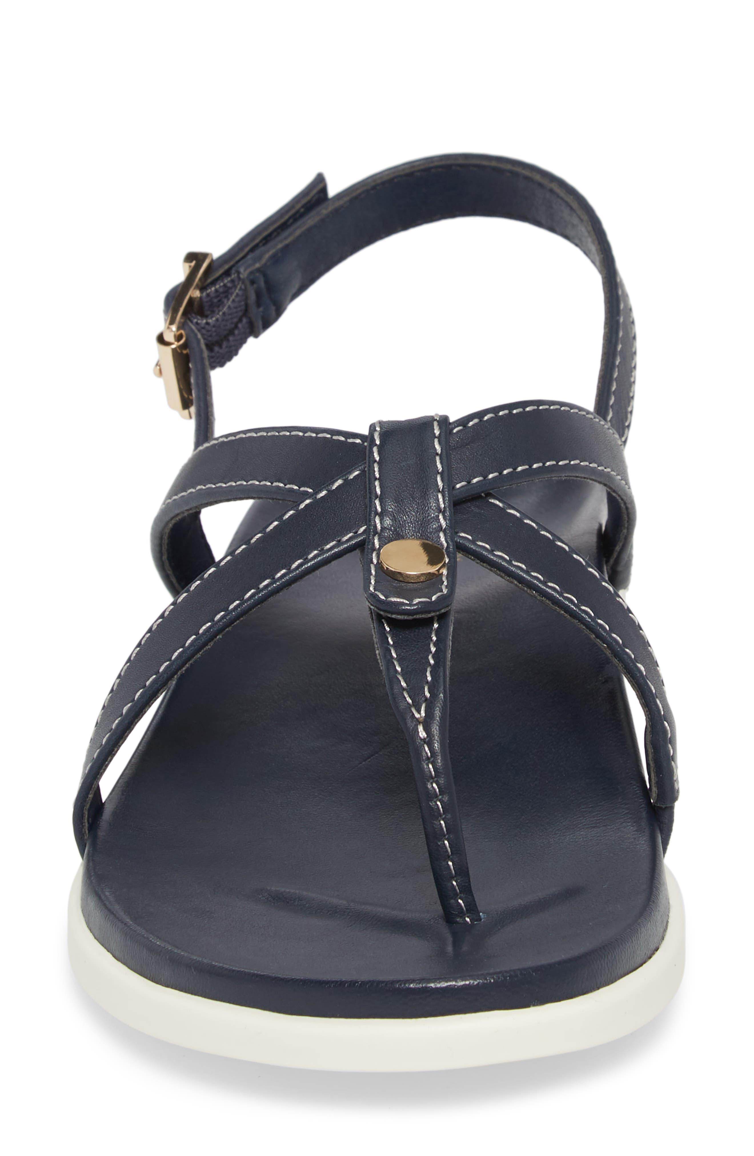 Veranda Orthaheel<sup>®</sup> Sandal,                             Alternate thumbnail 5, color,                             Navy Leather