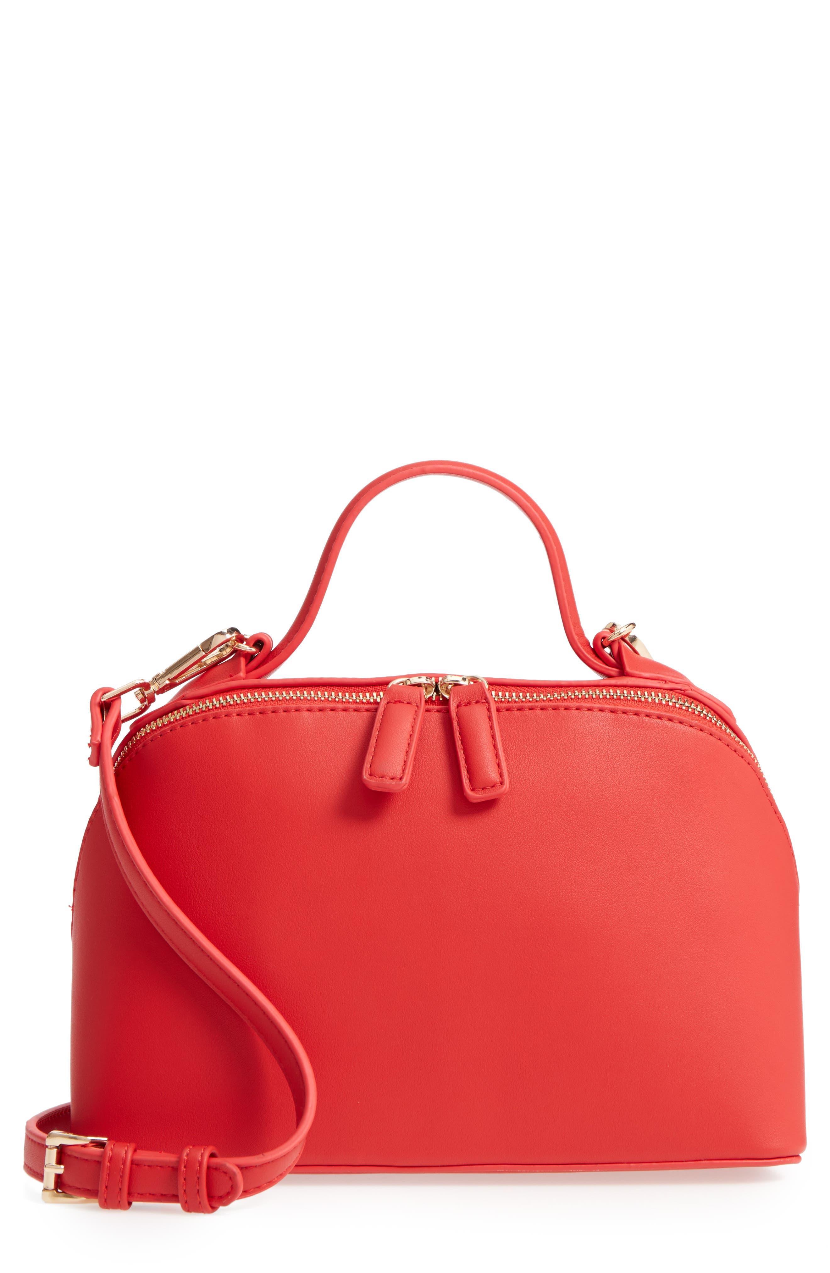 Top Handle Crossbody Bag,                             Main thumbnail 1, color,                             Red