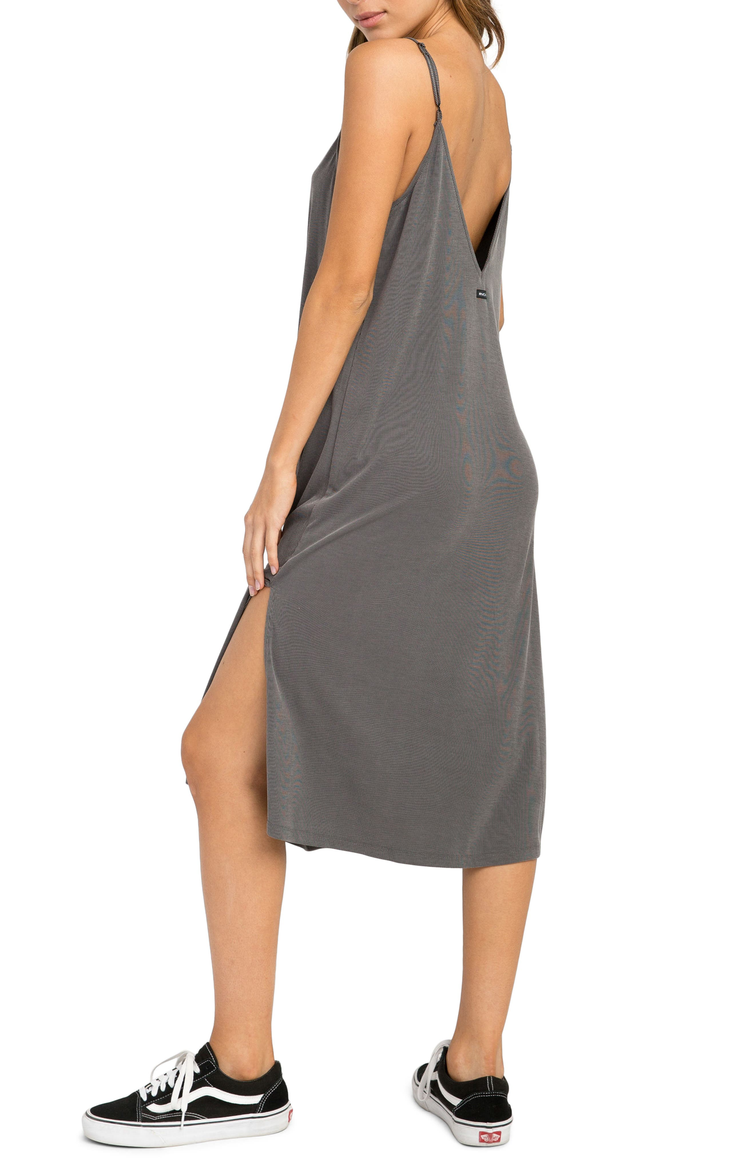 Jones Midi Dress,                             Alternate thumbnail 3, color,                             Grey