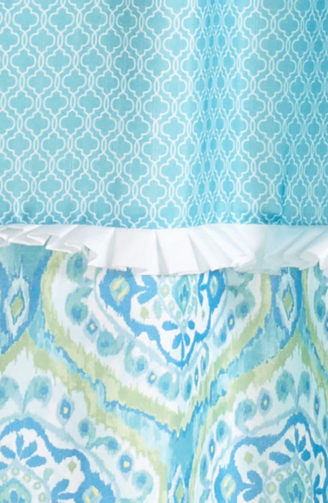 'Tangiers' Shower Curtain,                             Alternate thumbnail 2, color,                             Aqua