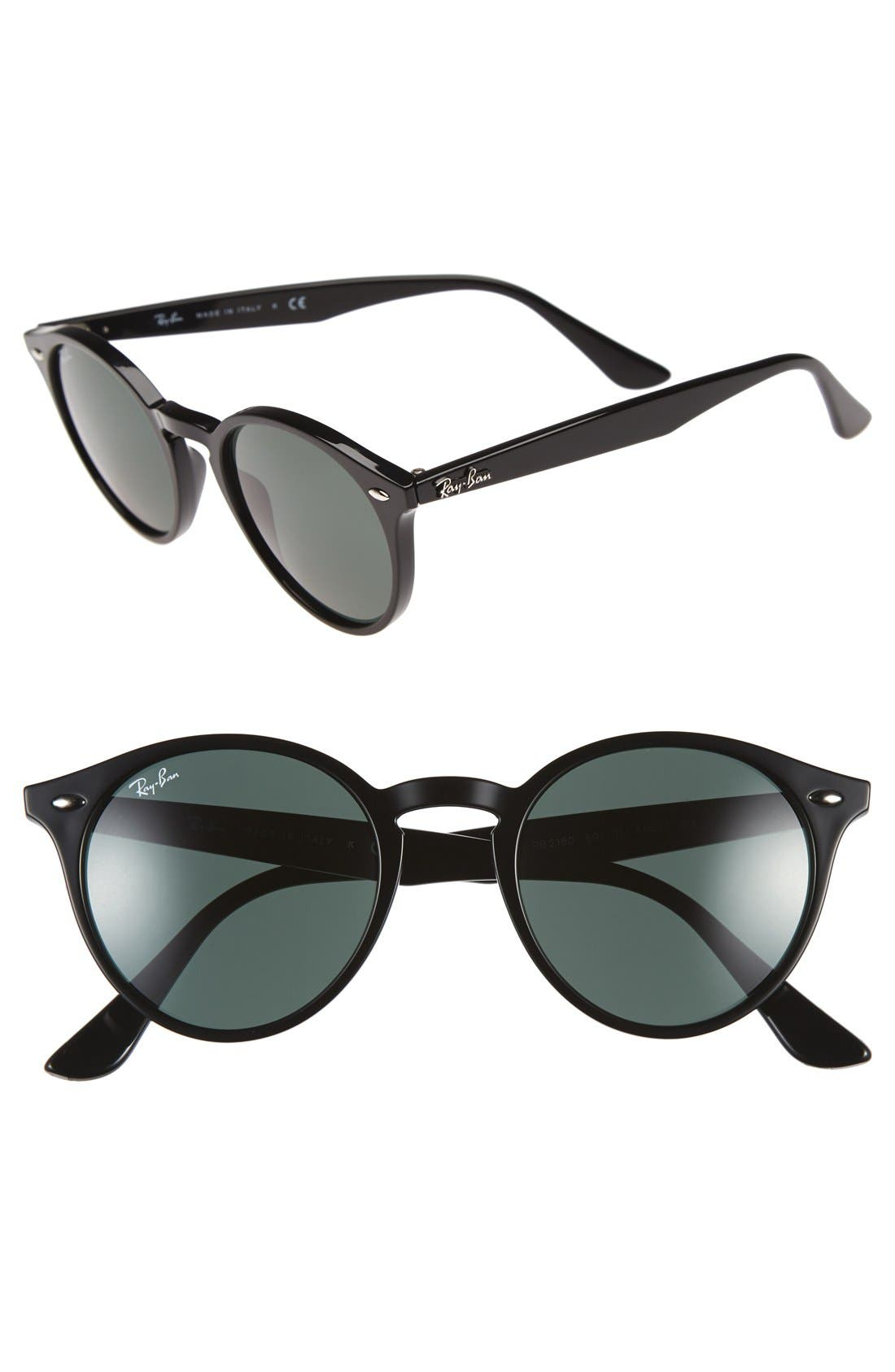 Alternate Image 1 Selected - Ray-Ban Highstreet 49mm Round Sunglasses