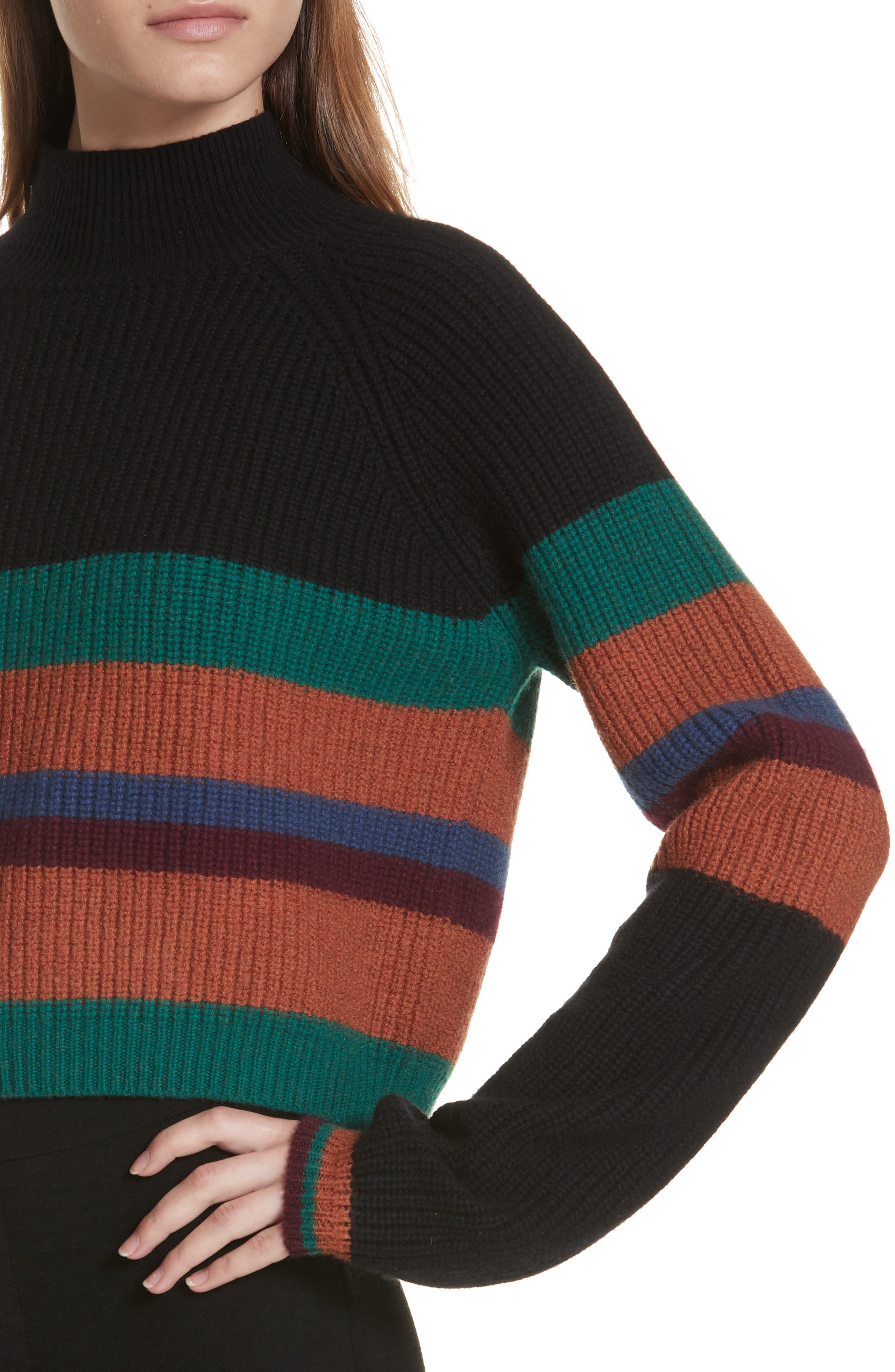 The Adam Stripe Wool & Cashmere Sweater by Cienne