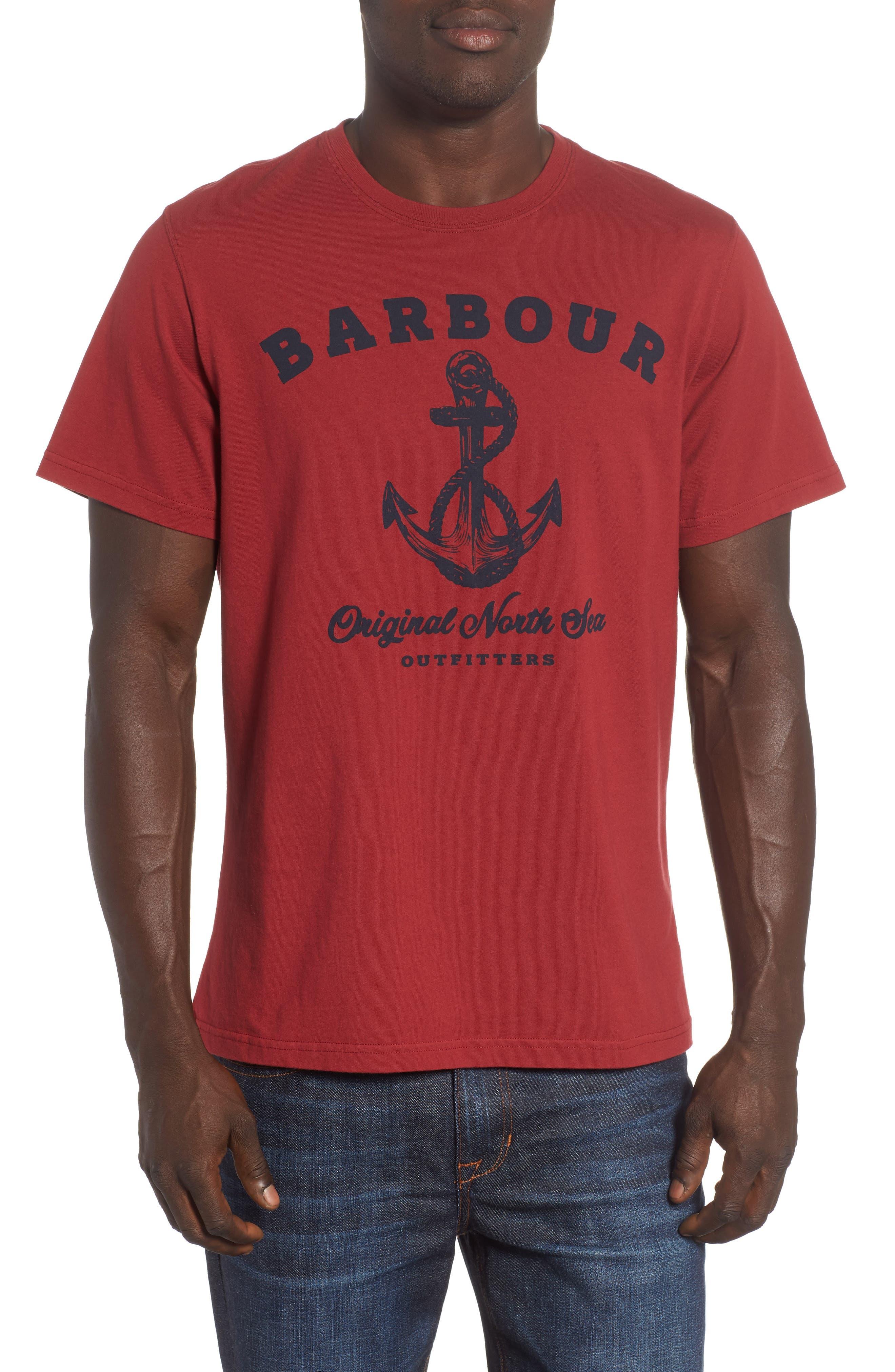 Anchor Graphic T-Shirt,                             Main thumbnail 1, color,                             Biking Red