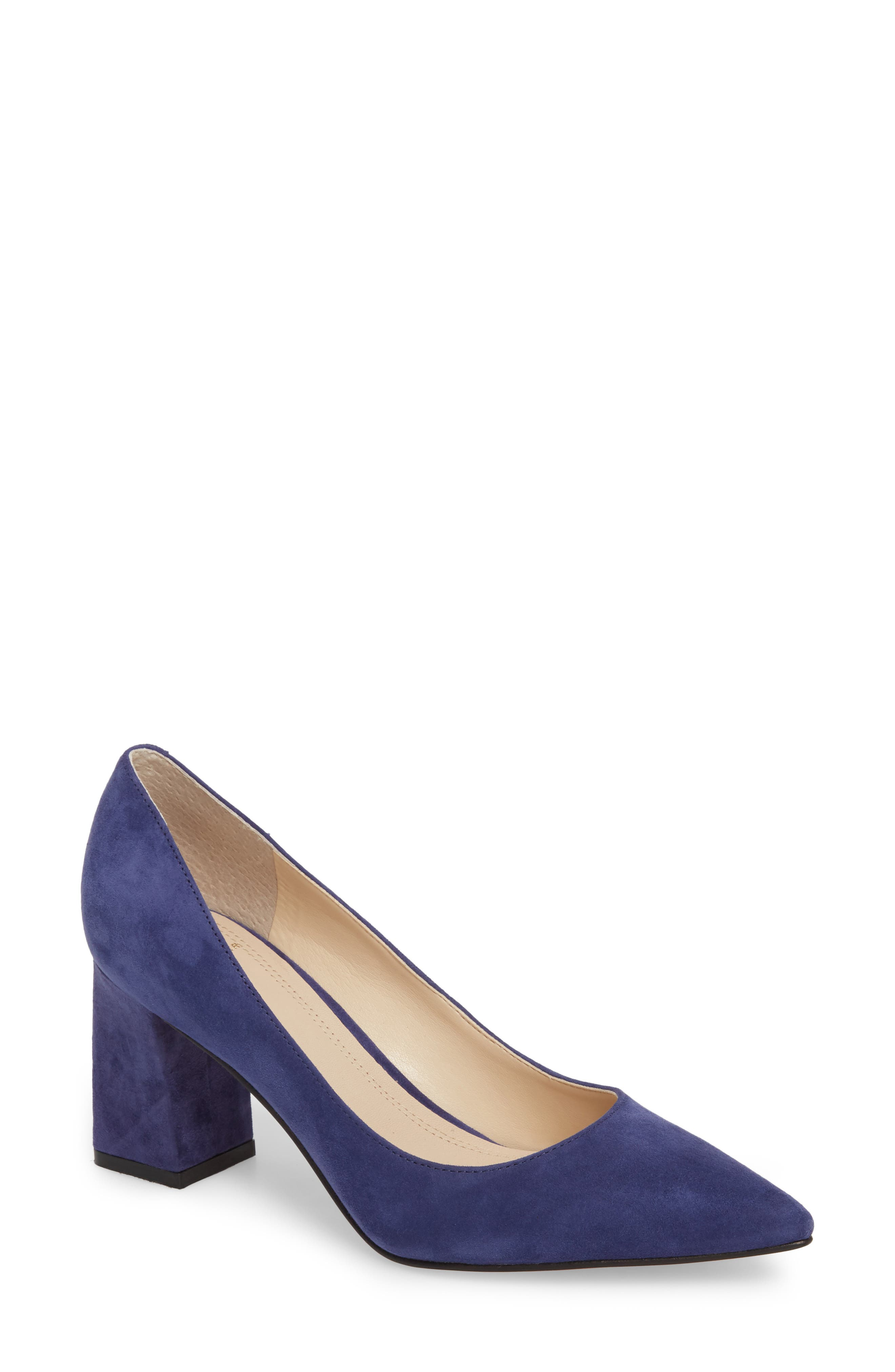 'Zala' Pump,                         Main,                         color, Blue Suede