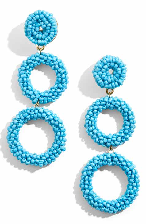 Baublebar Capella Beaded Triple Hoop Drop Earrings