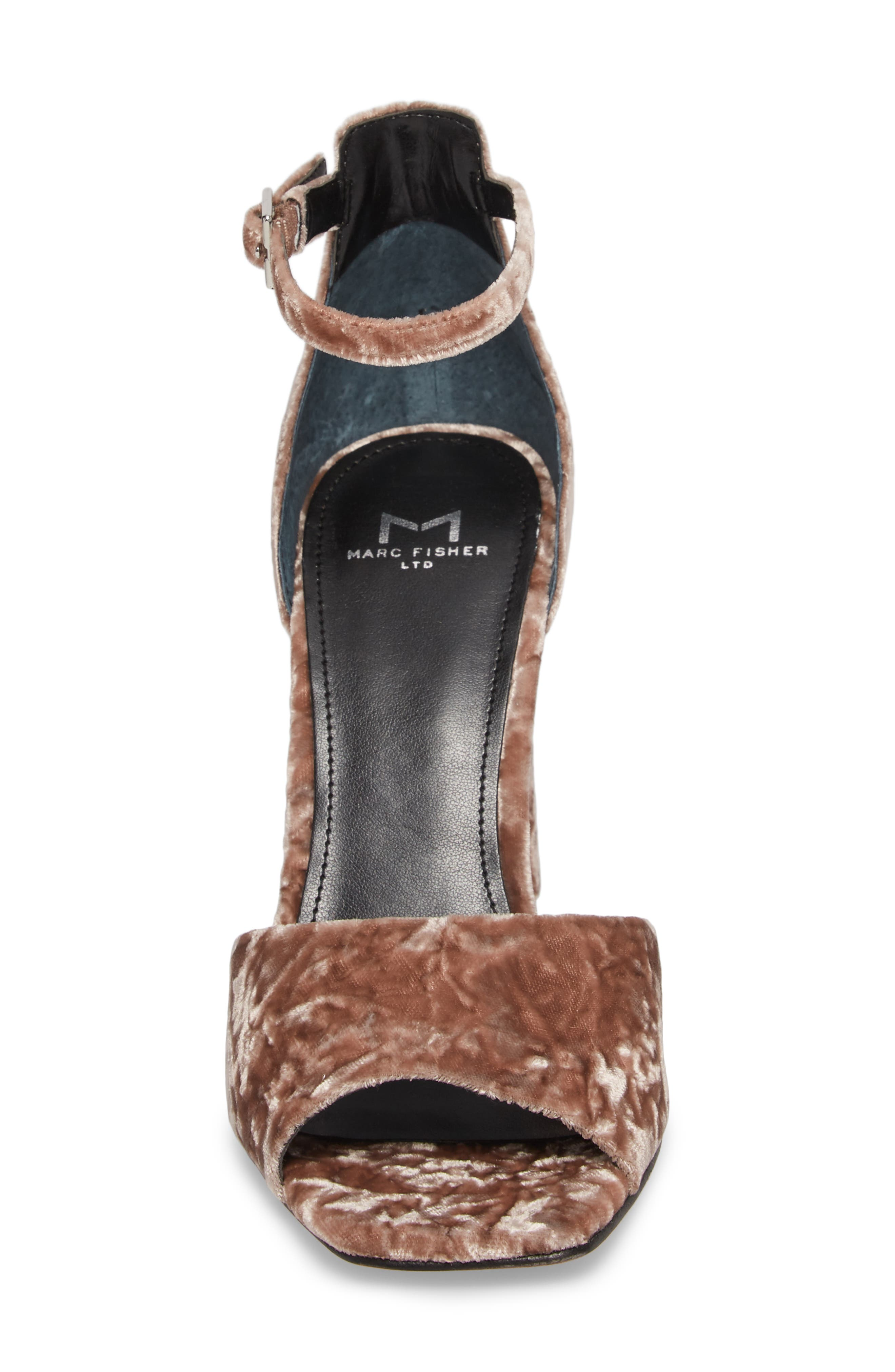 Harlin Ankle Strap Sandal,                             Alternate thumbnail 5, color,                             Light Pink Fabric