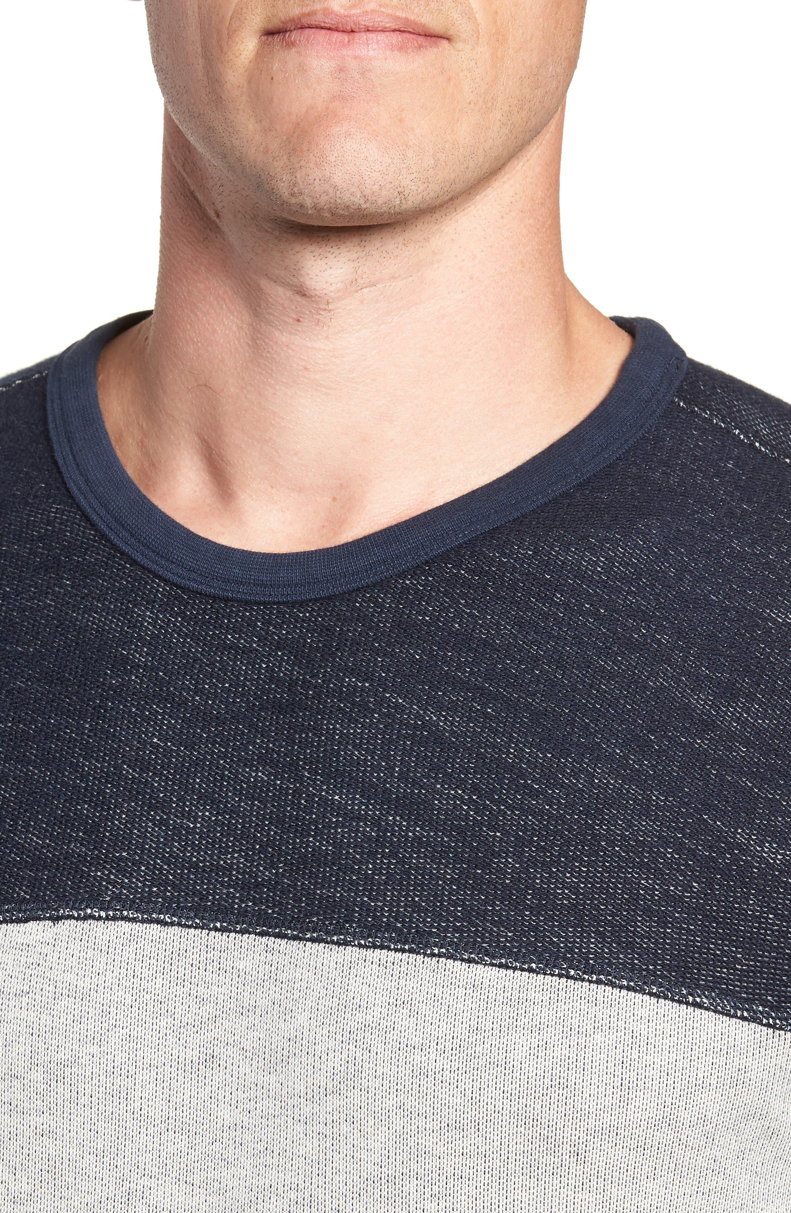 Reversible Colorblock Terry Sweatshirt,                             Alternate thumbnail 4, color,                             Navy / Grey