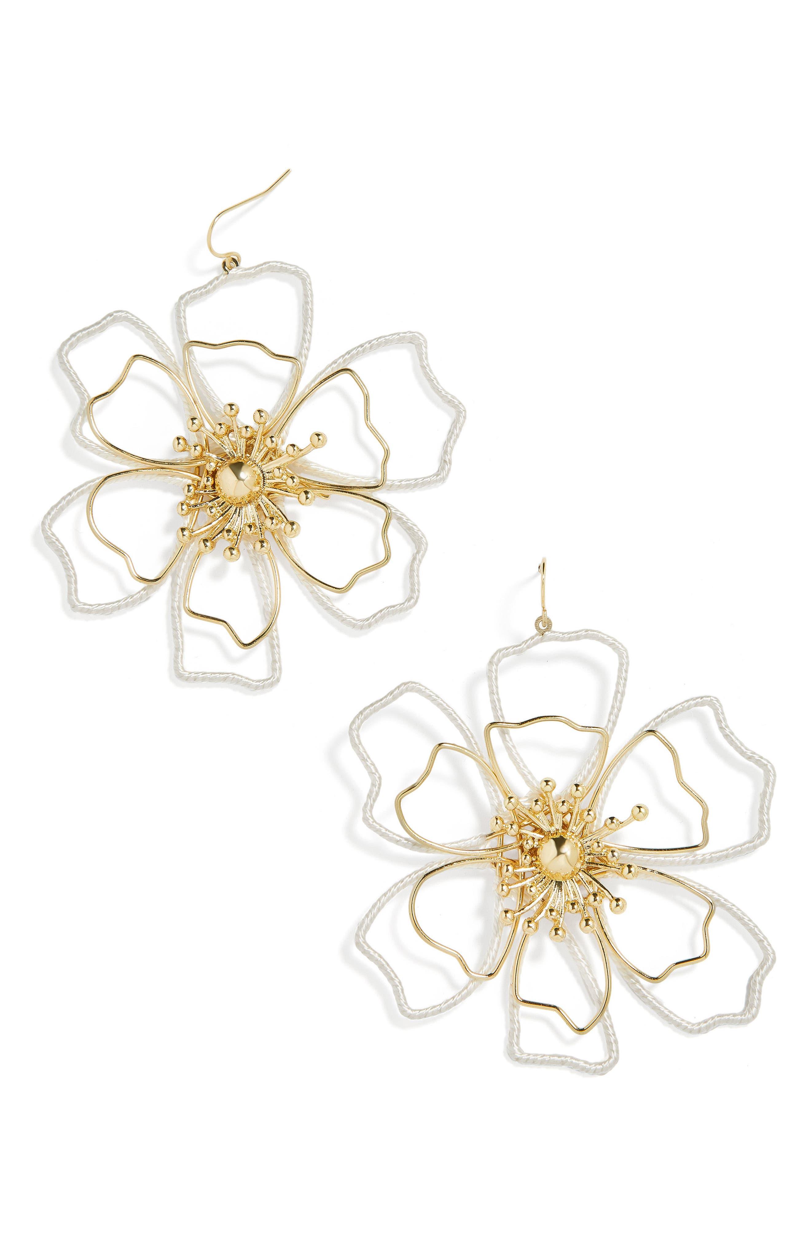 Tierra Drop Earrings,                         Main,                         color, White