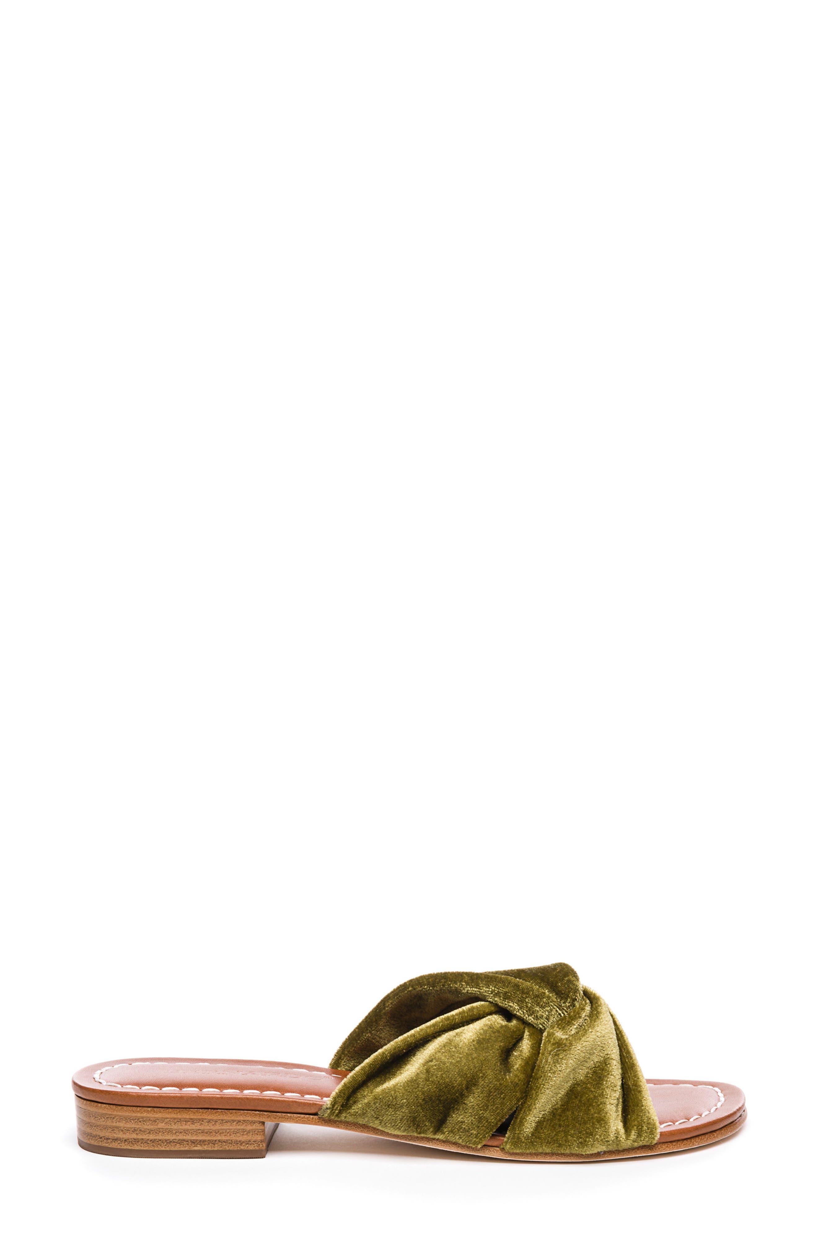 Bernardo Tiffany Knotted Slide Sandal,                             Alternate thumbnail 3, color,                             Clasico Velvet