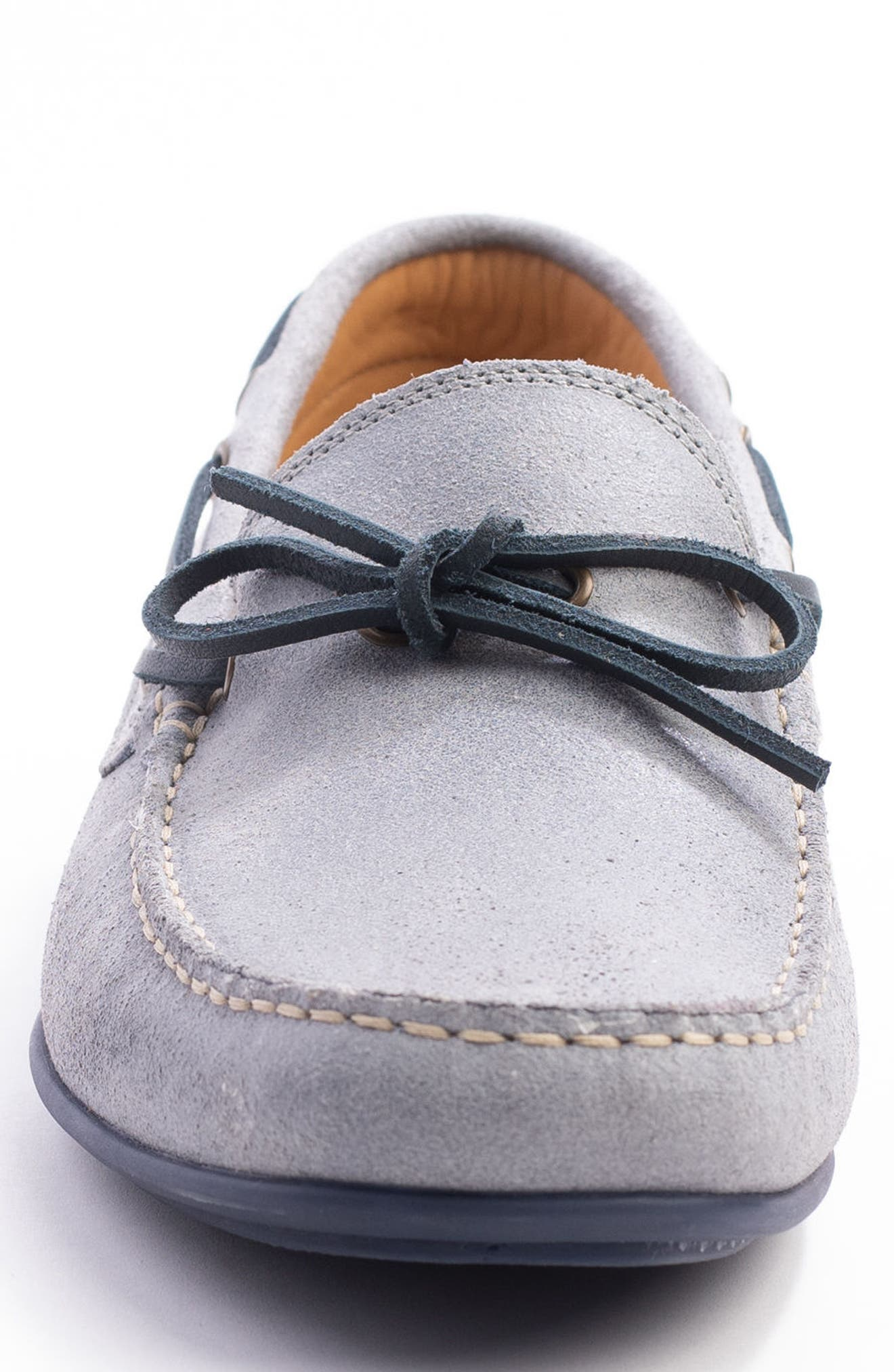 Kingstons Driving Shoe,                             Alternate thumbnail 5, color,                             Denim Suede