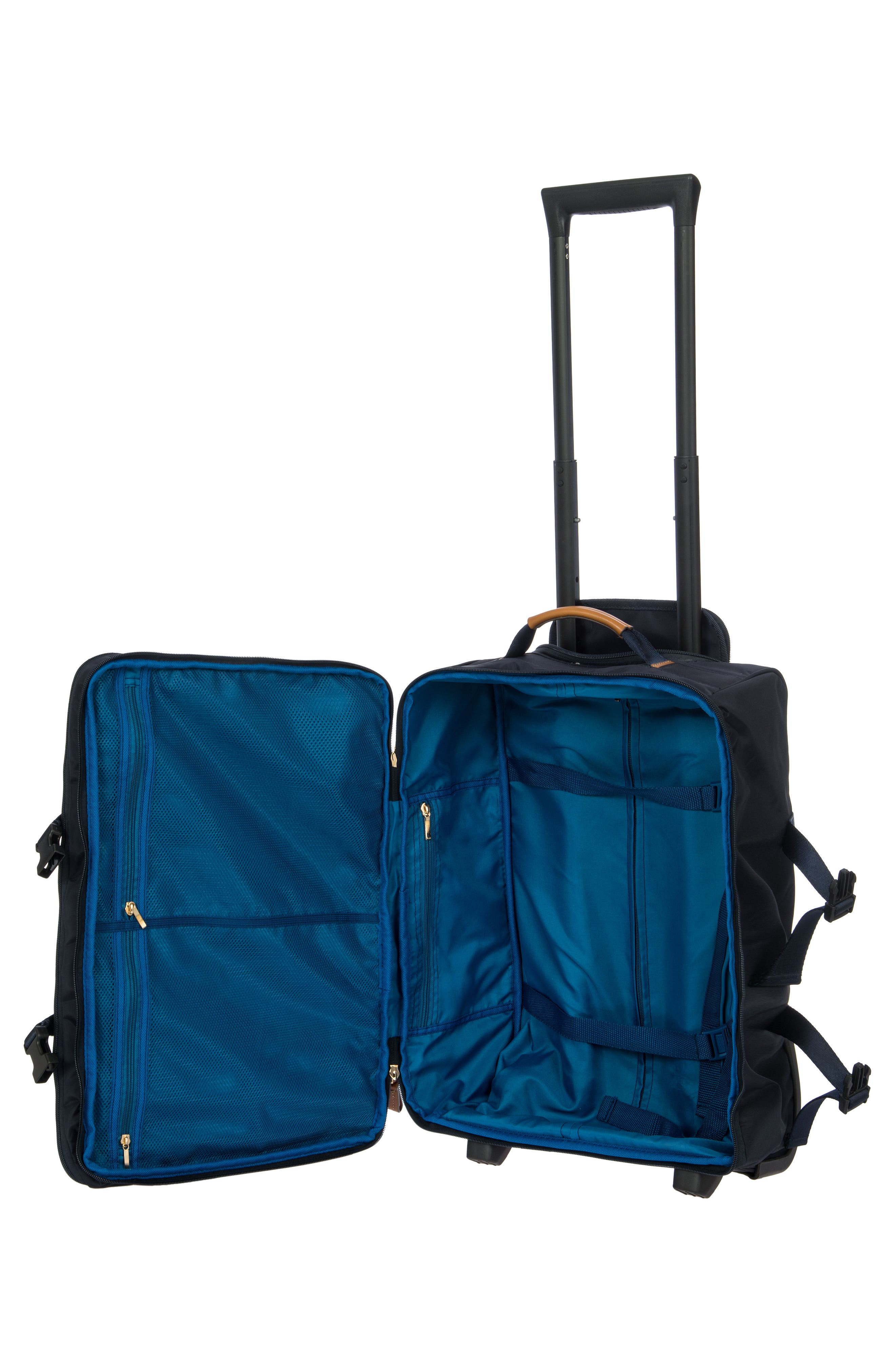 """BRIC'S X-TRAVEL 21"""" MONTAGNA CARRY-ON TROLLEY LUGGAGE, NAVY"""