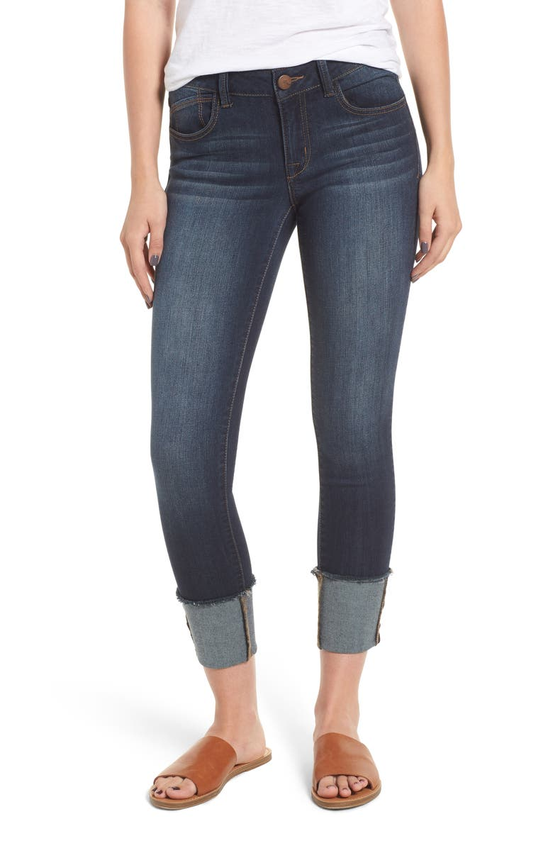 Cuffed Skinny Ankle Jeans