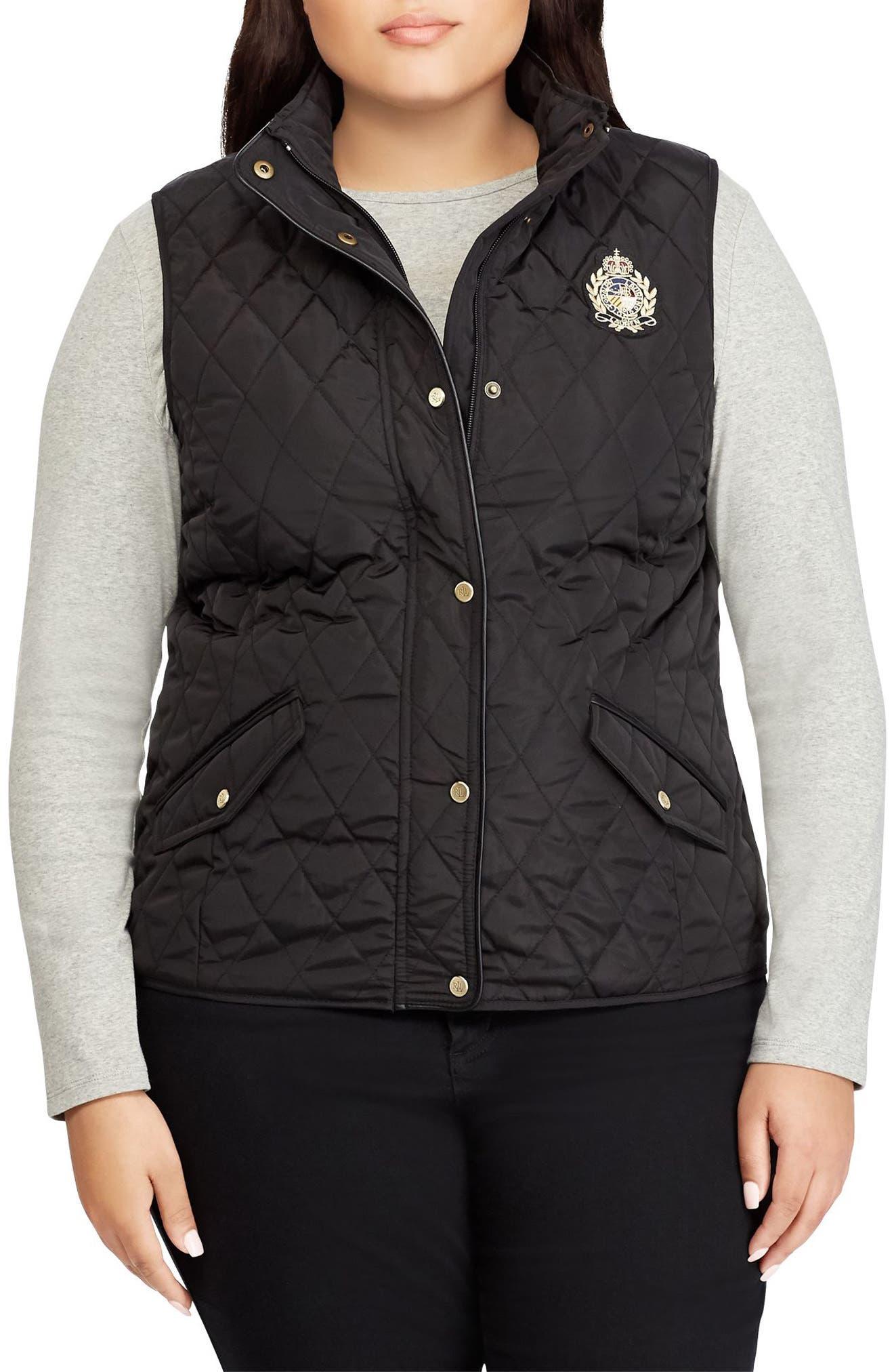 Lauren Ralph Lauren Quilted Vest (Plus Size)