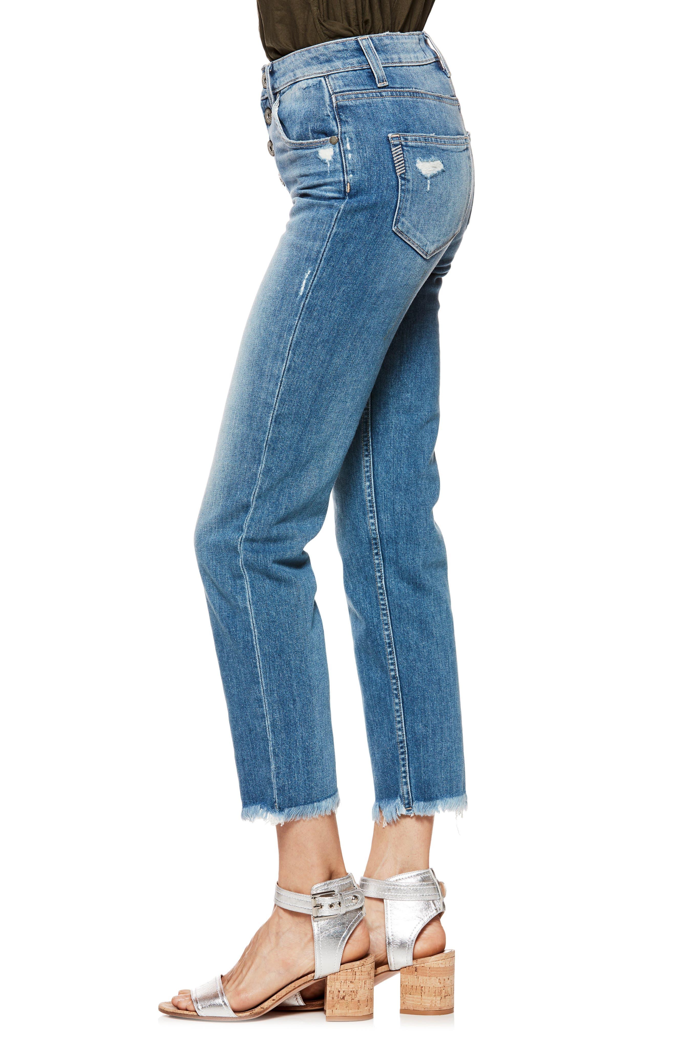 Sarah High Waist Straight Leg Jeans,                             Alternate thumbnail 5, color,                             Venice