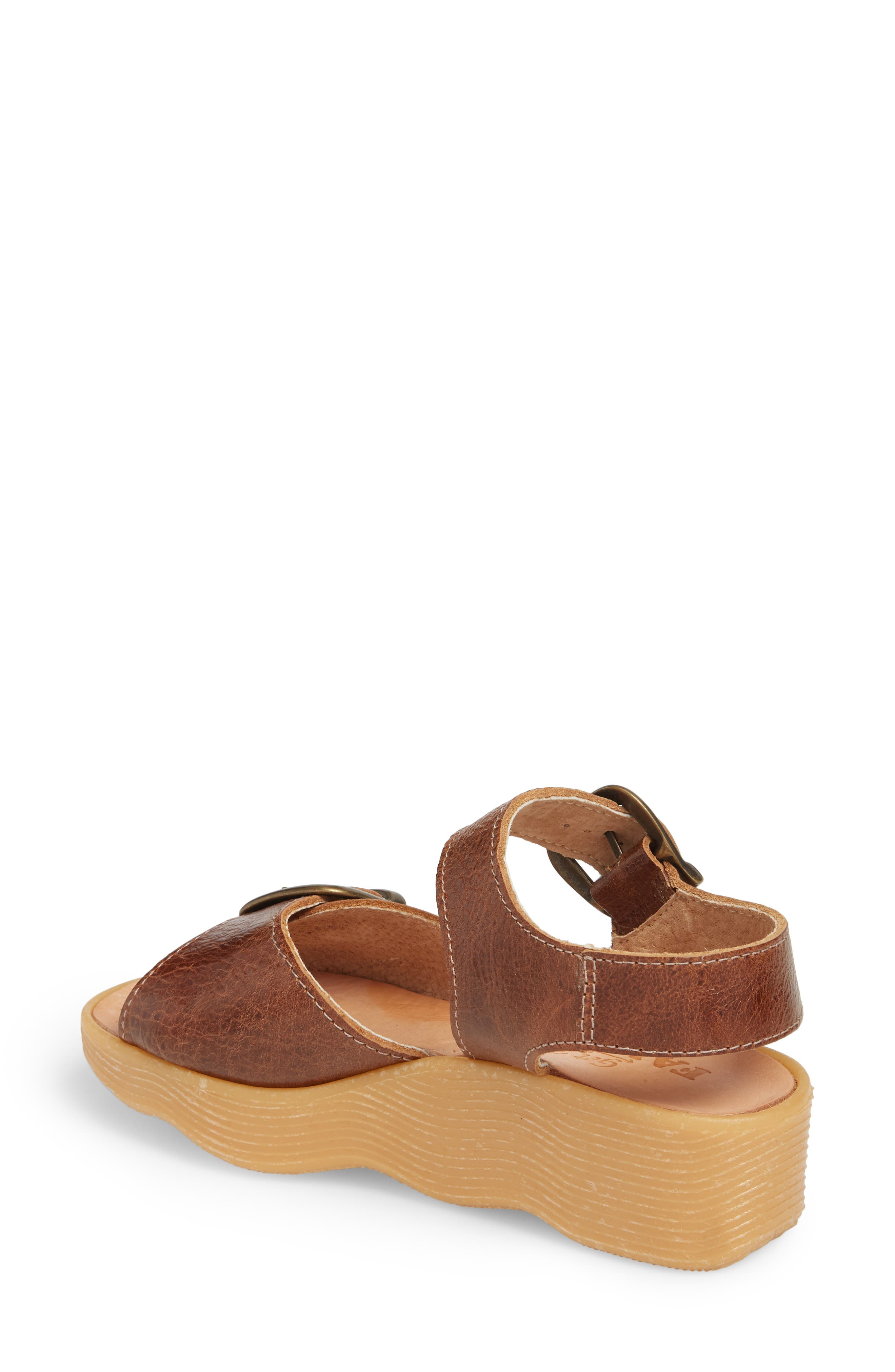 Double Play Platform Sandal,                             Alternate thumbnail 2, color,                             Earth Leather