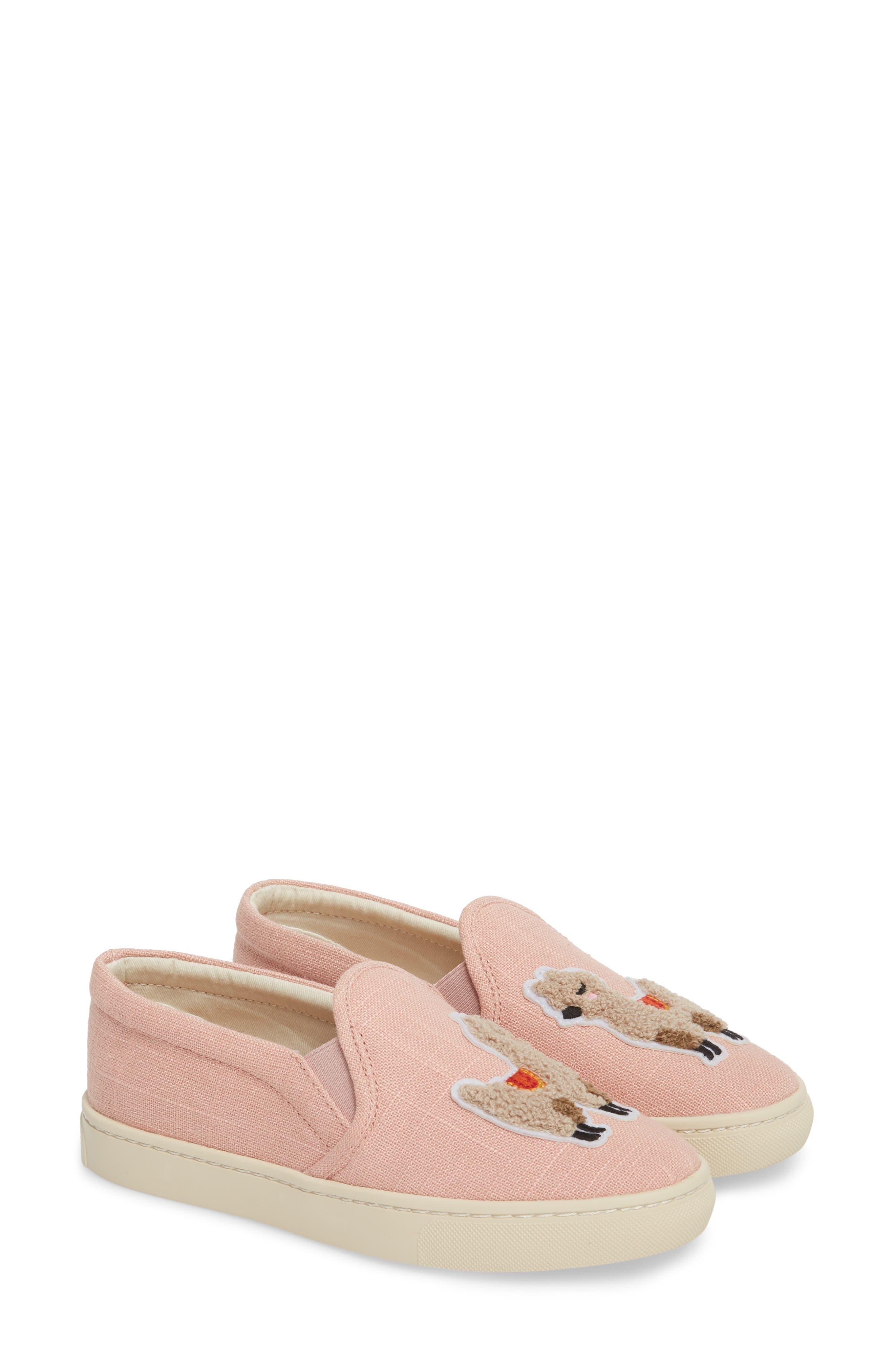 Llama Slip-On Sneaker,                             Alternate thumbnail 2, color,                             Dusty Rose Fabric