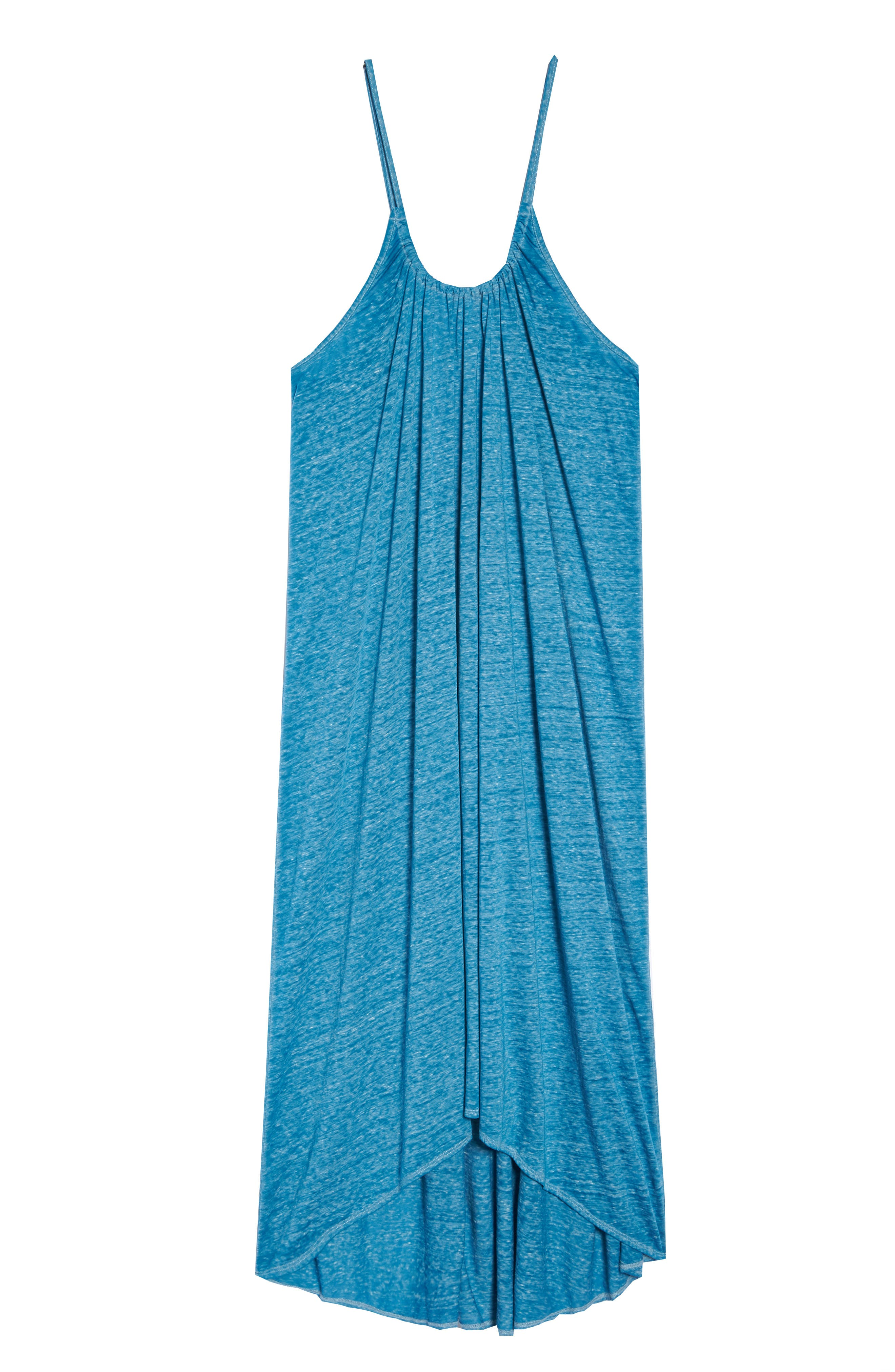 Maxi Cover-Up Dress,                             Alternate thumbnail 6, color,                             Teal Turkish