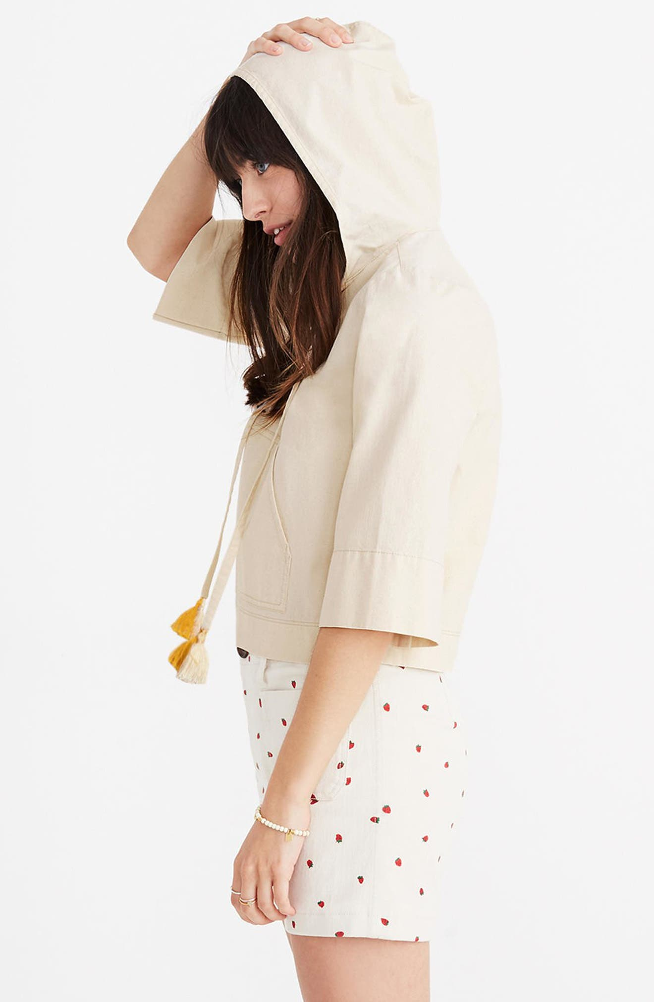 Hooded Popover Top,                             Alternate thumbnail 3, color,                             Canvas