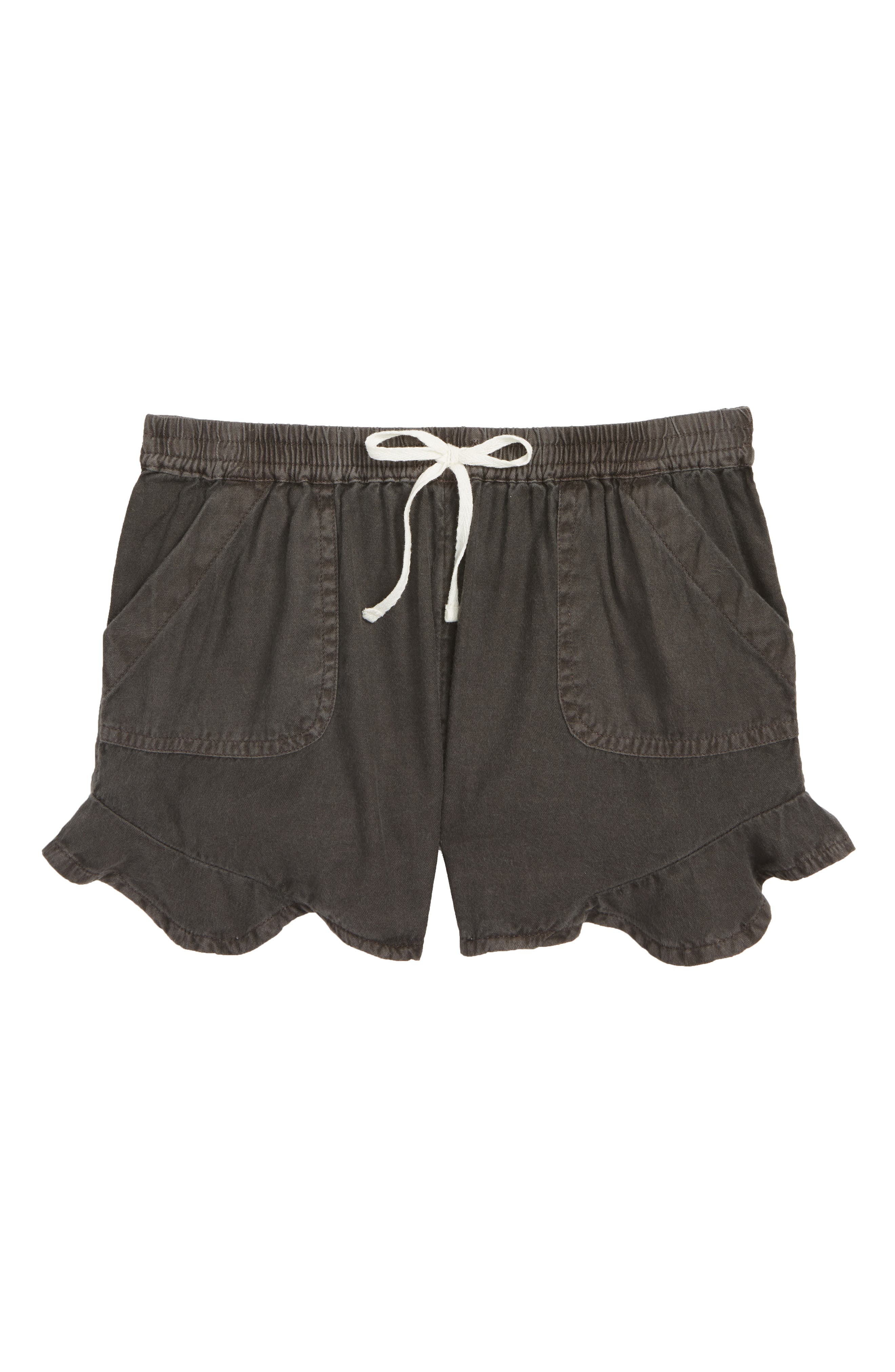 Mad For Summer Shorts,                             Main thumbnail 1, color,                             Black