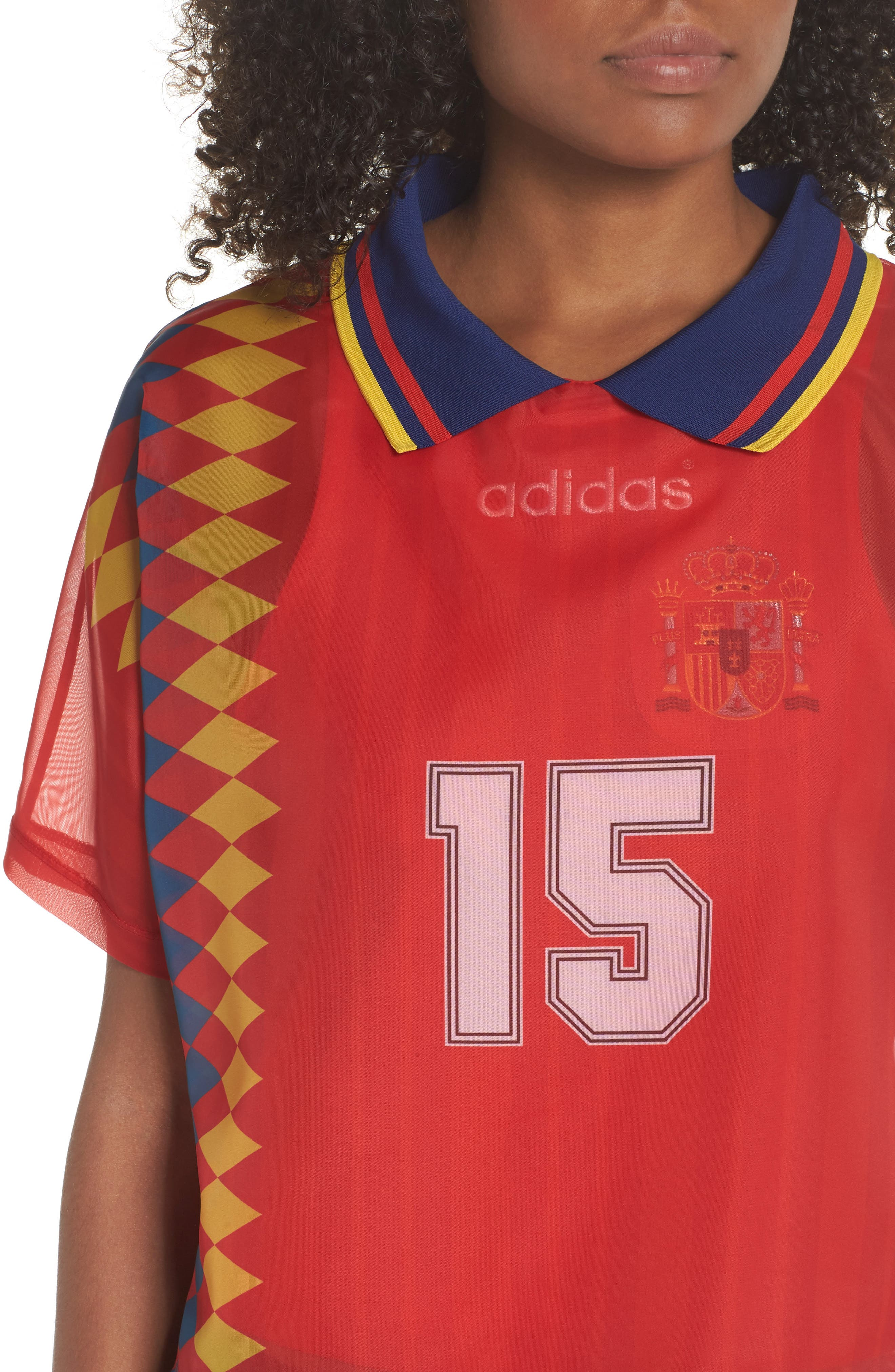 Originals Soccer Jersey Layer Tee,                             Alternate thumbnail 4, color,                             Multicolor Red