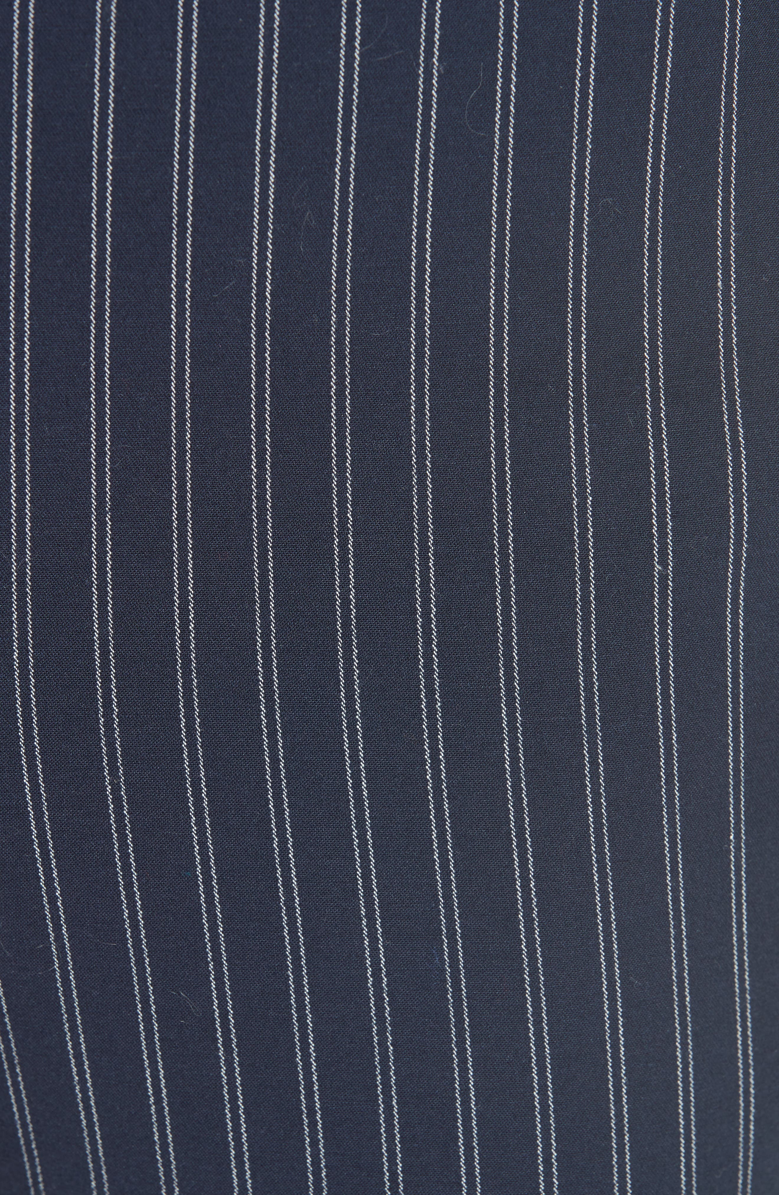 Simone Pinstripe Pants,                             Alternate thumbnail 4, color,                             Navy/ White