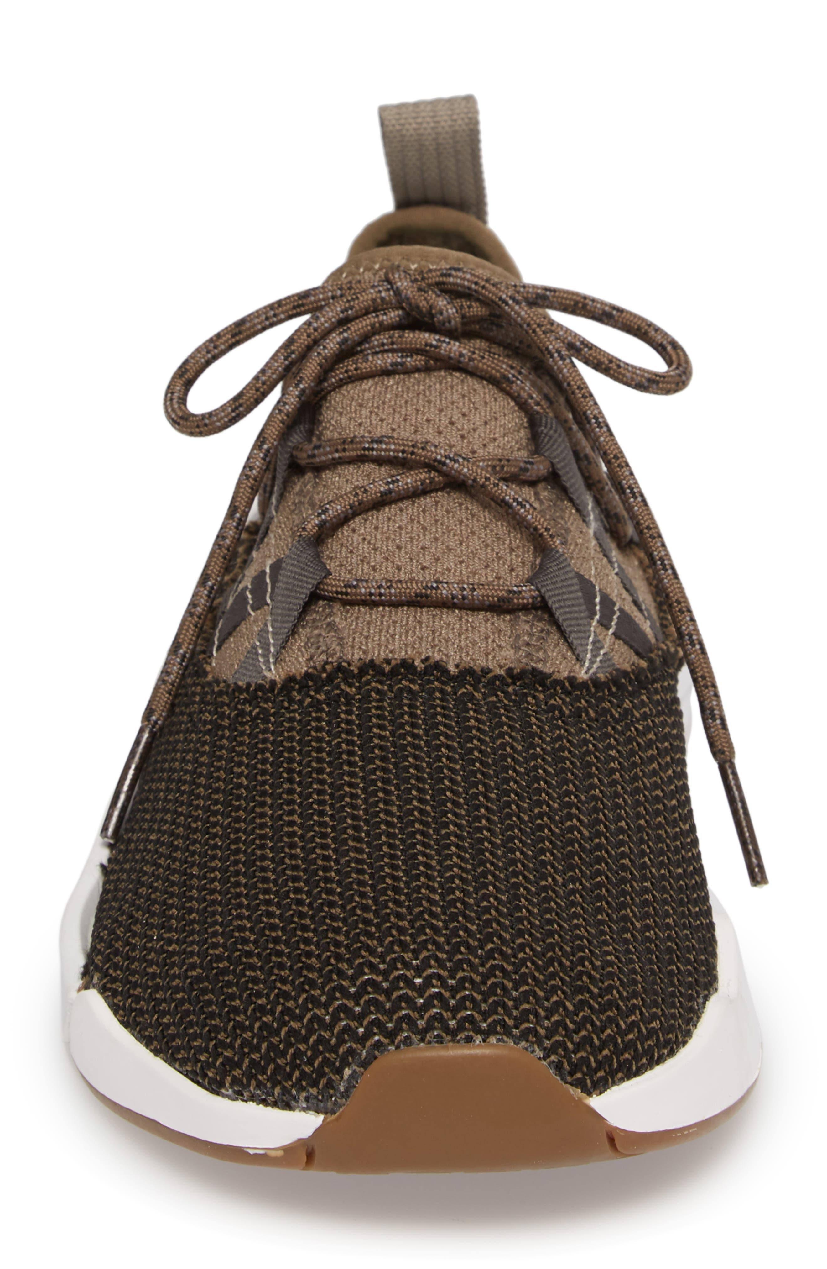 Chiba Quest Knit Sneaker,                             Alternate thumbnail 4, color,                             Brindle/ Black