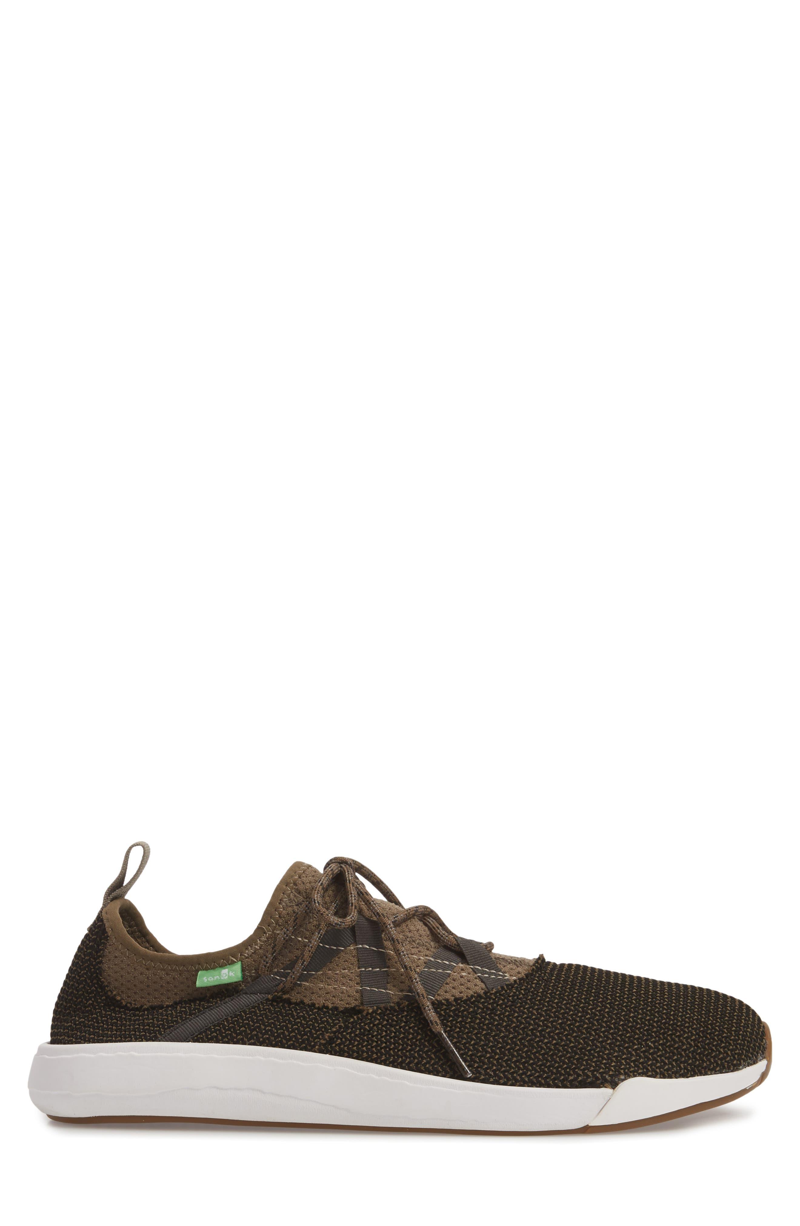 Chiba Quest Knit Sneaker,                             Alternate thumbnail 5, color,                             Brindle/ Black