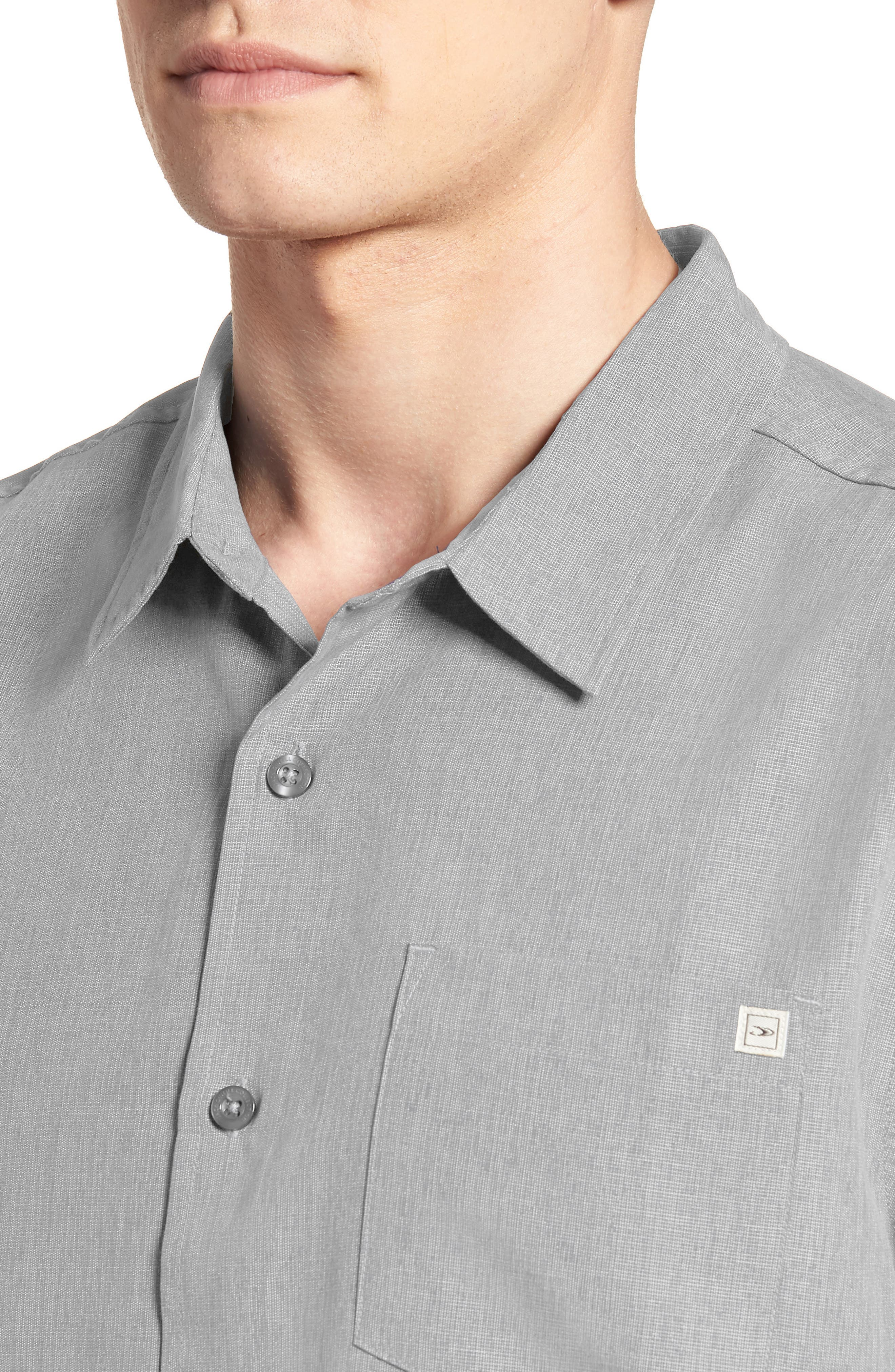 Liberty Regular Fit Short Sleeve Sport Shirt,                             Alternate thumbnail 7, color,                             Light Grey