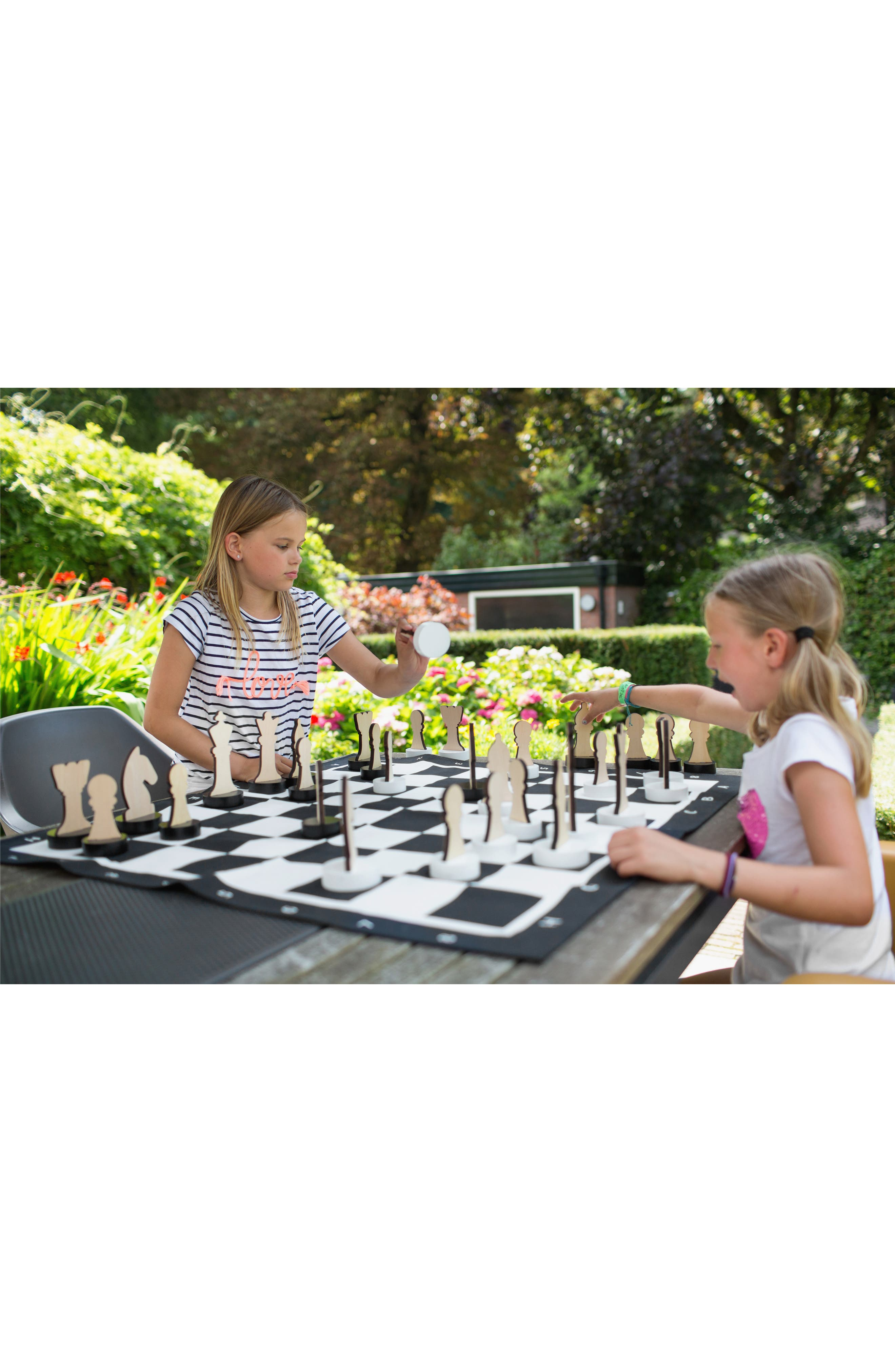 XL Indoor/Outdoor Chess Game,                             Alternate thumbnail 4, color,                             Black