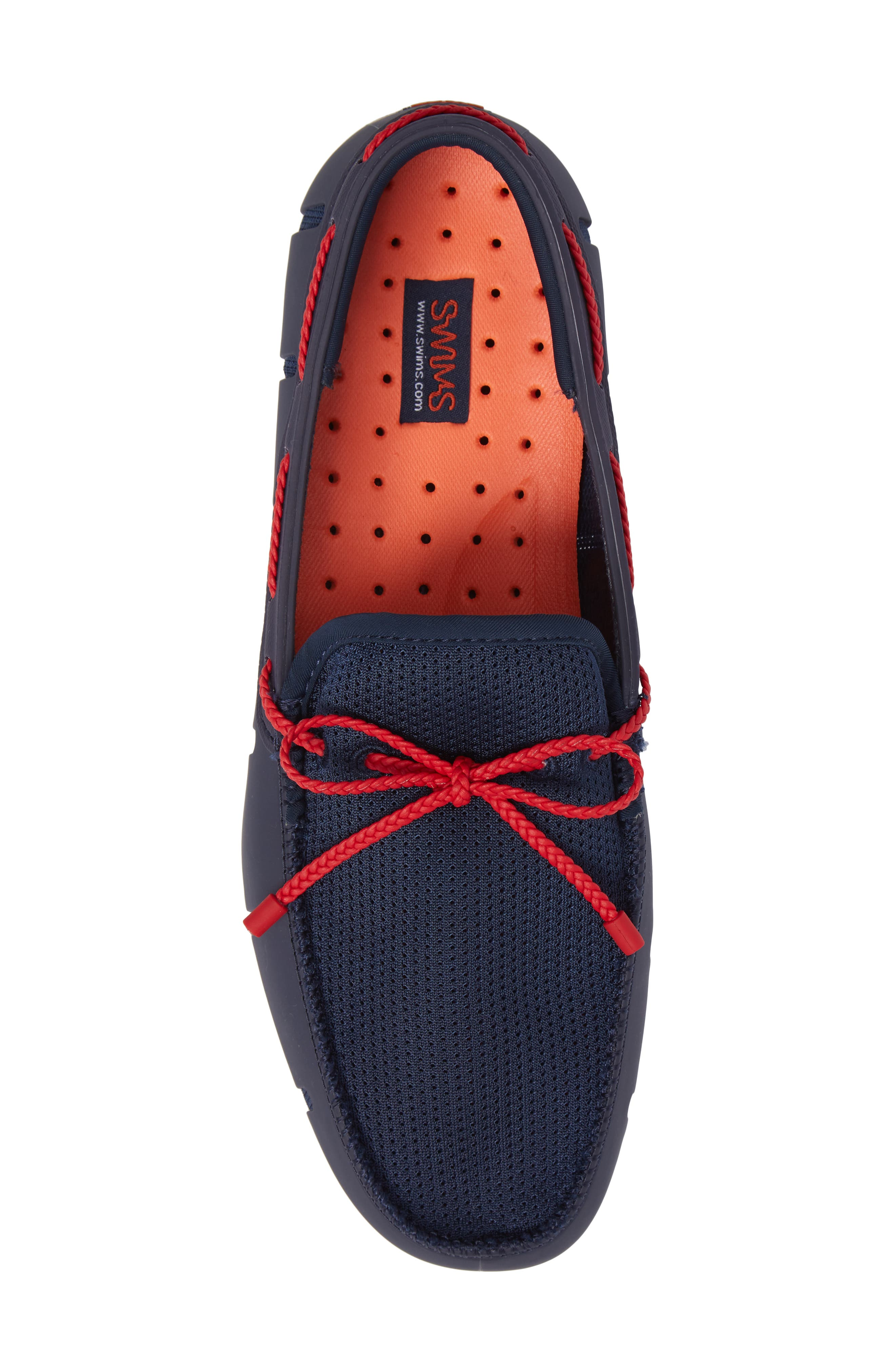 Lace Loafer,                             Alternate thumbnail 5, color,                             Navy/ Navy/ Red