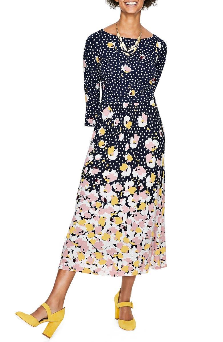 Blossom Jersey Midi Dress