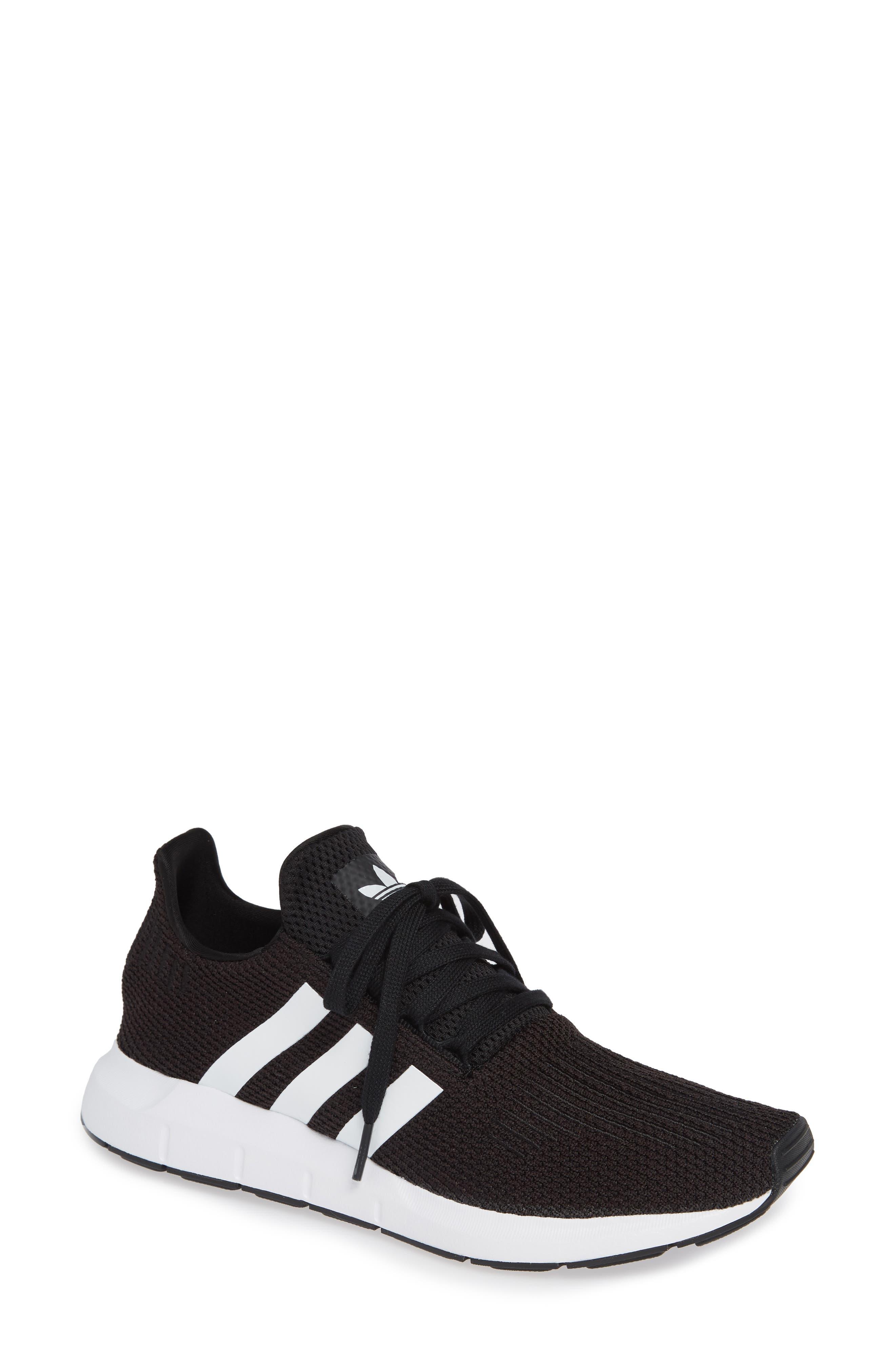 Swift Run Sneaker,                             Main thumbnail 1, color,                             Black/ White