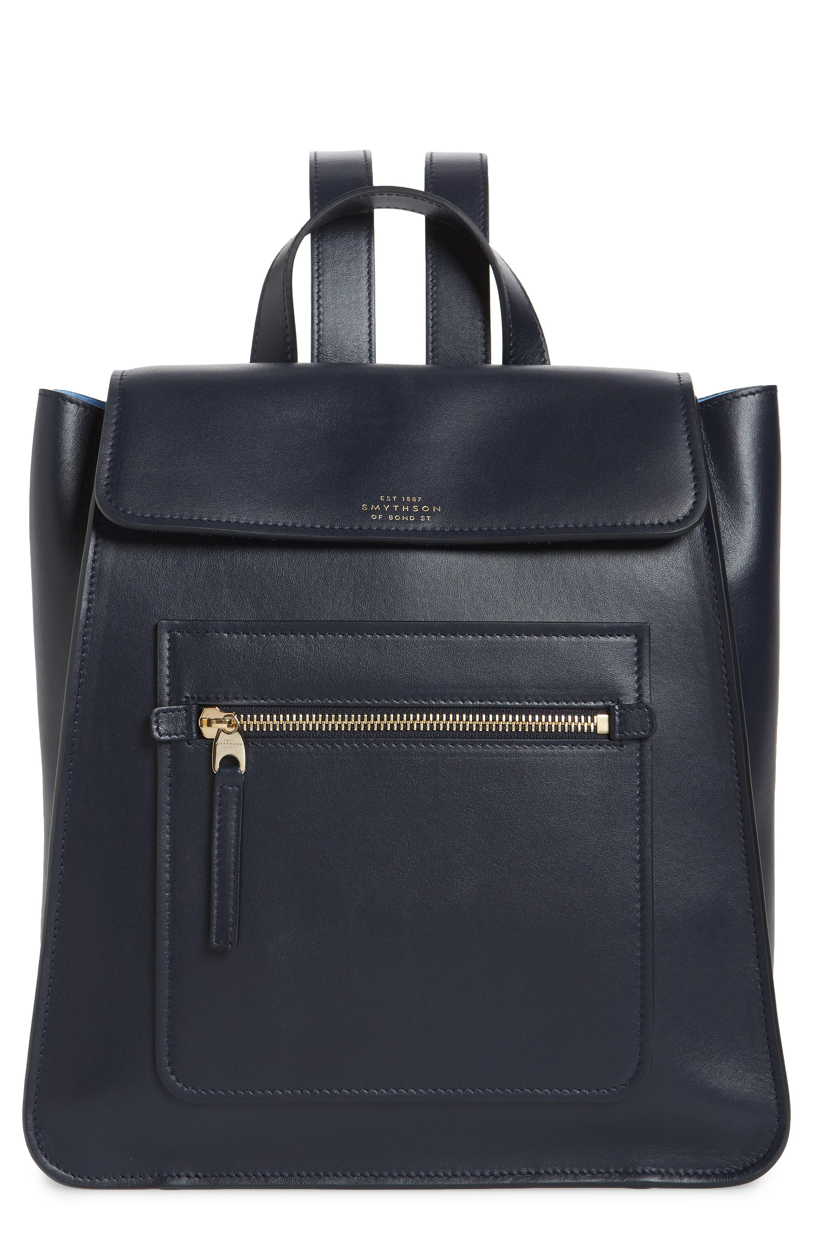 HERO SMALL LEATHER BACKPACK - BLUE