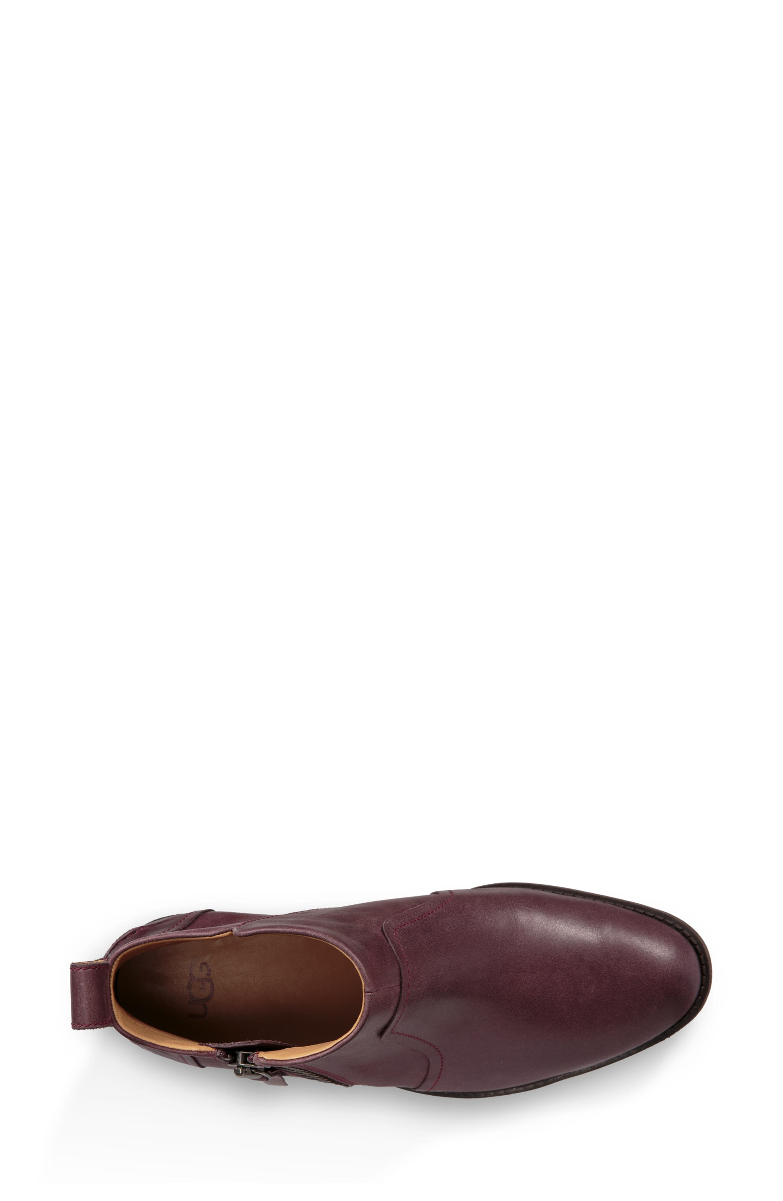 Aureo Bootie,                             Alternate thumbnail 4, color,                             Oxblood Leather