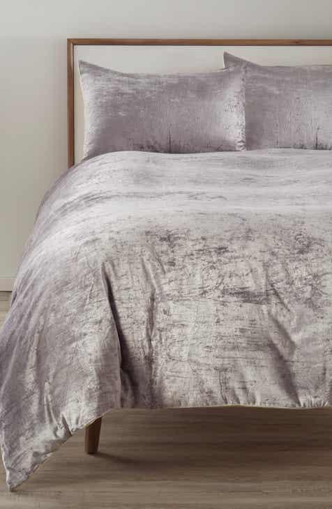 nordstrom at home shimmer velvet duvet cover - Nordstrom Bedding