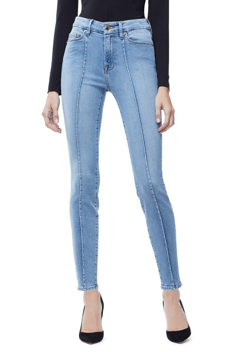 Good Legs Pintuck Ankle Skinny Jeans