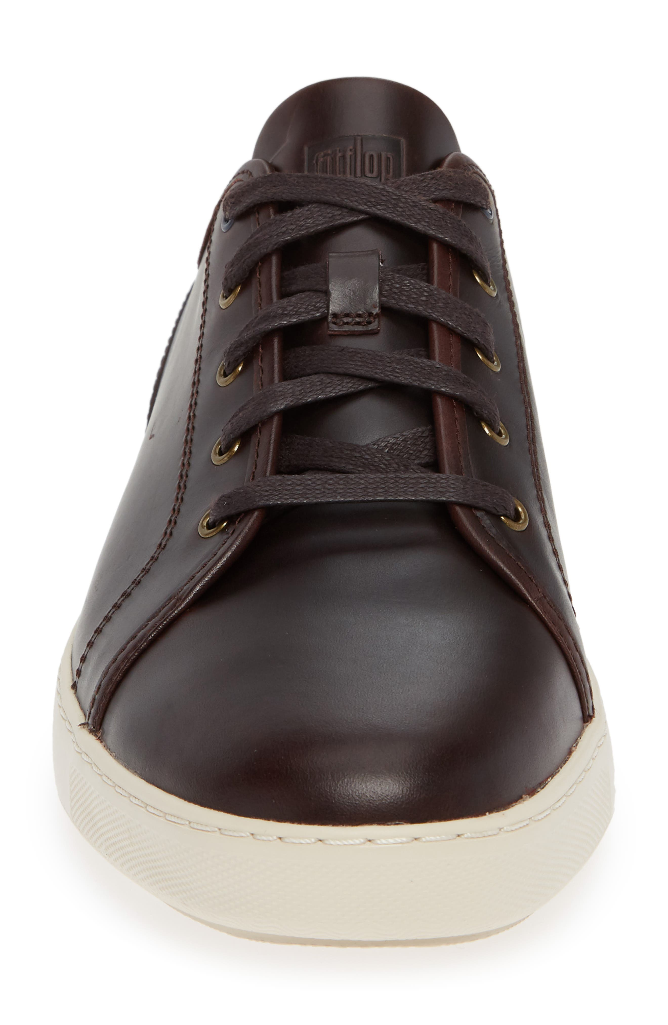 Christophe Low Top Sneaker,                             Alternate thumbnail 5, color,                             Dark Oxblood